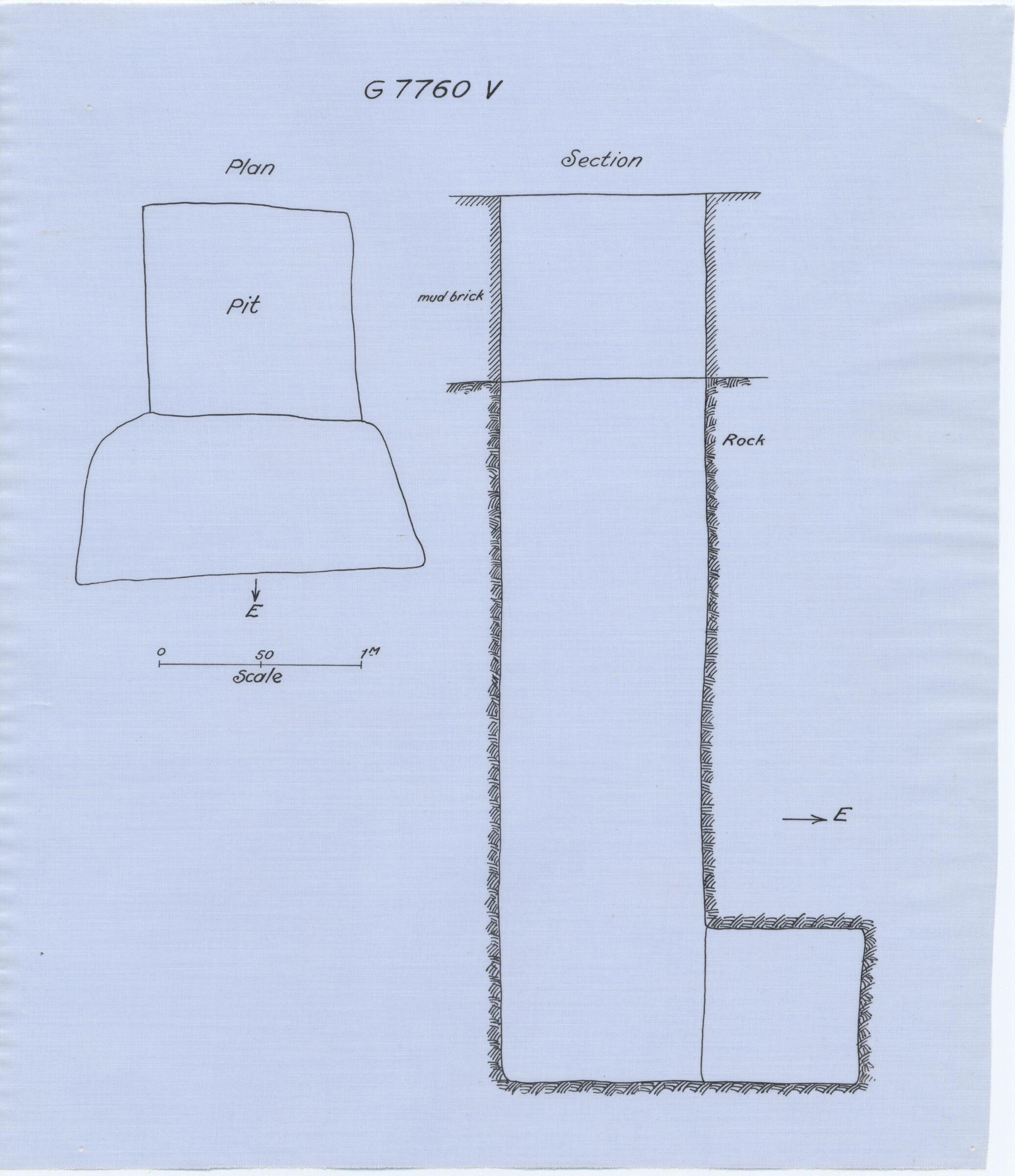 Maps and plans: G 7760, Shaft V