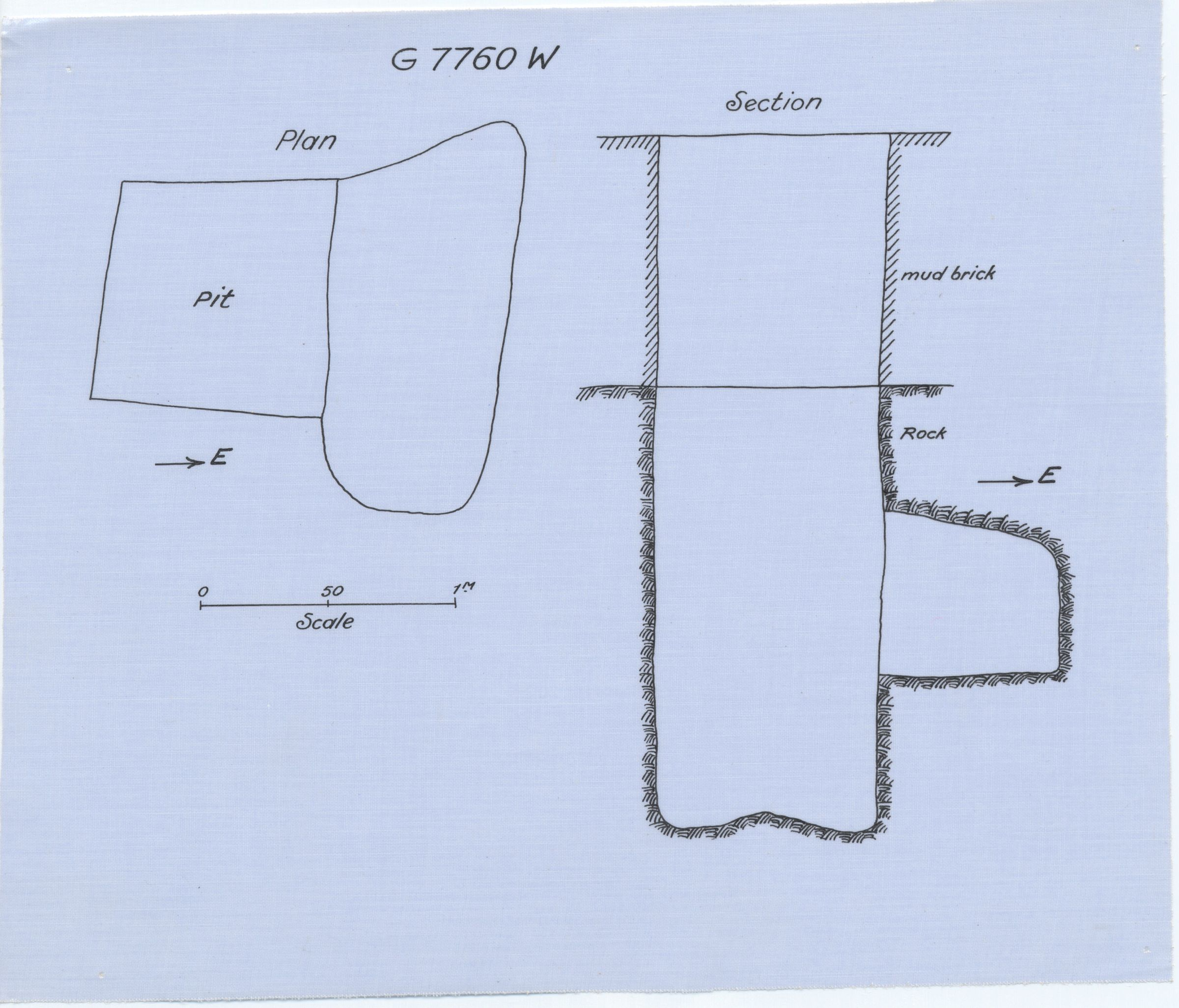 Maps and plans: G 7760, Shaft W