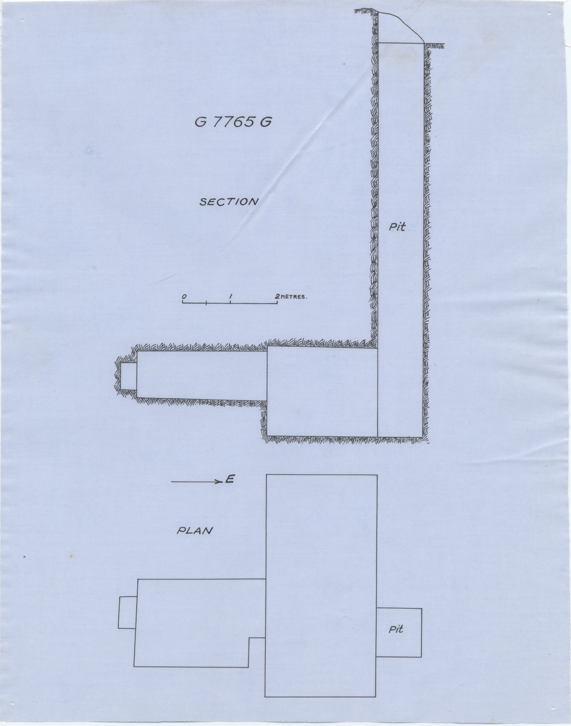 Maps and plans: G 7765, Shaft G