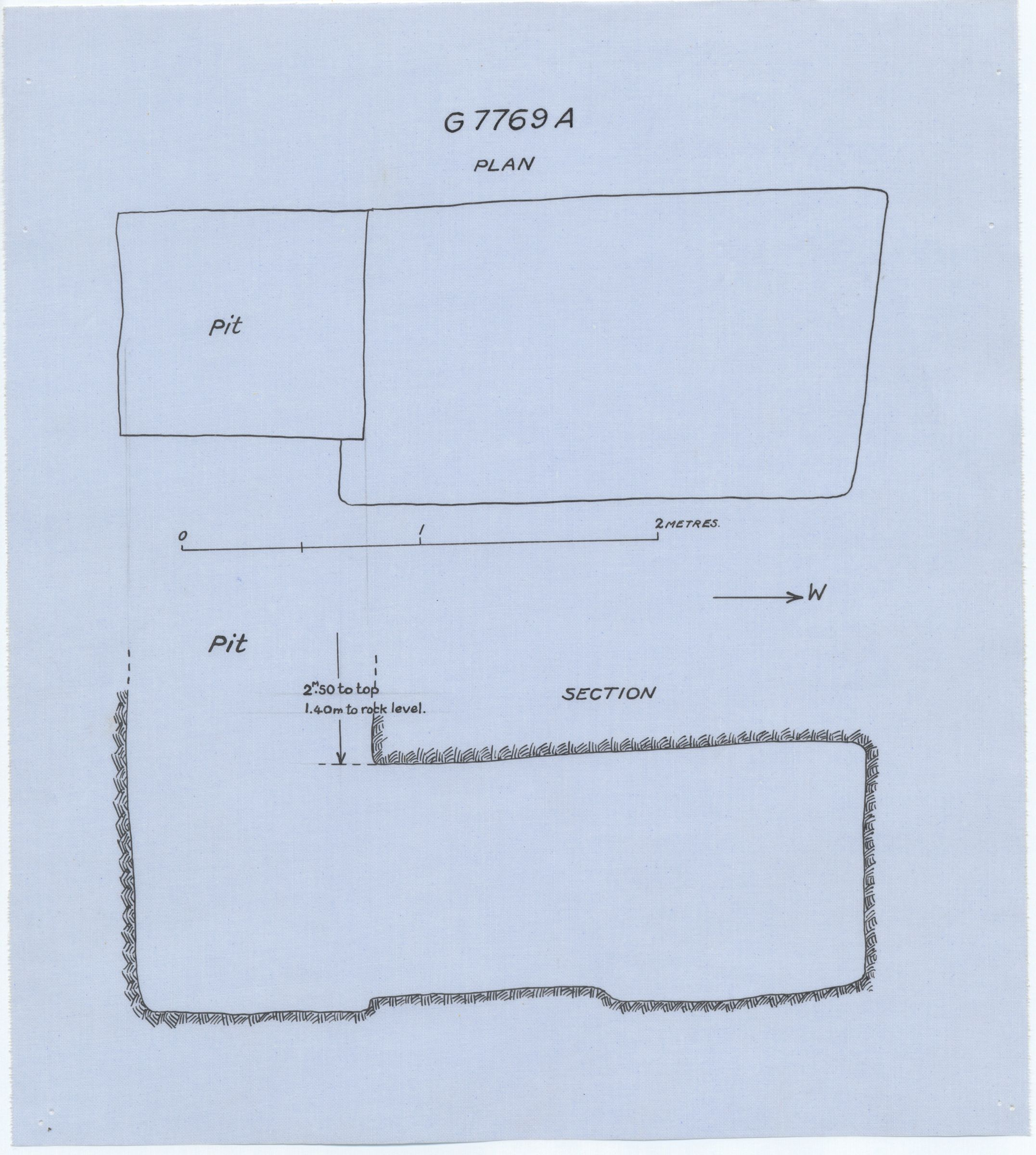 Maps and plans: G 7769, Shaft A