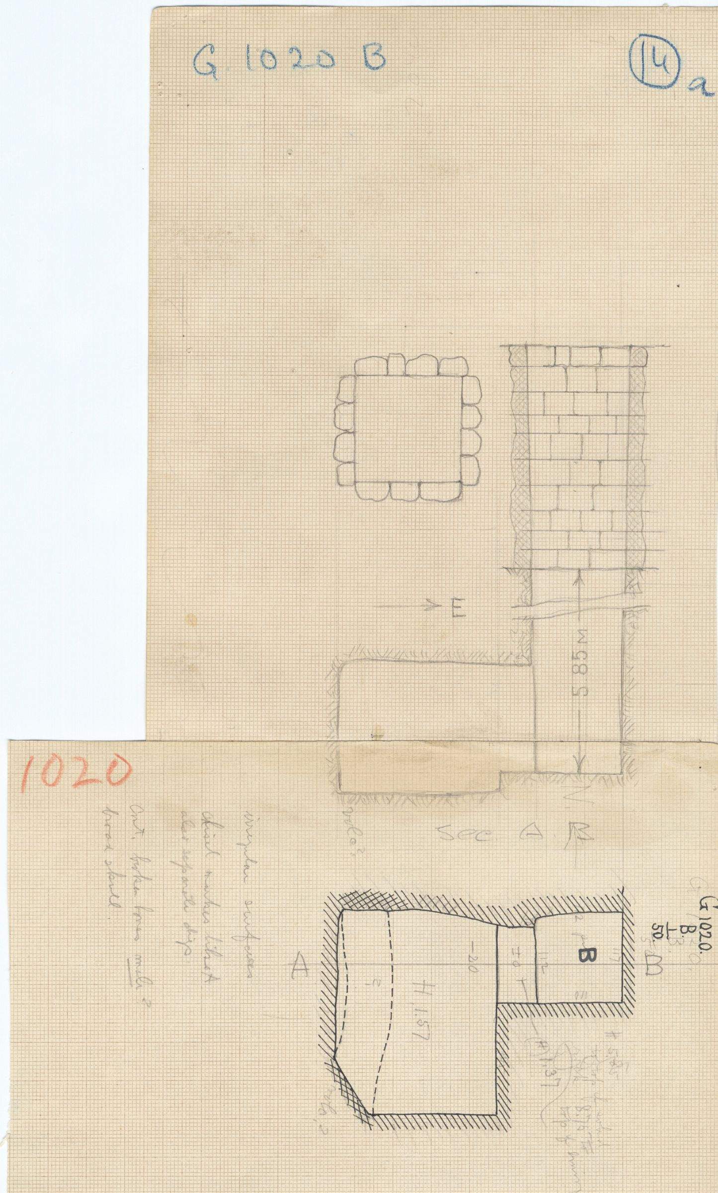 Maps and plans: G 1020, Shaft B