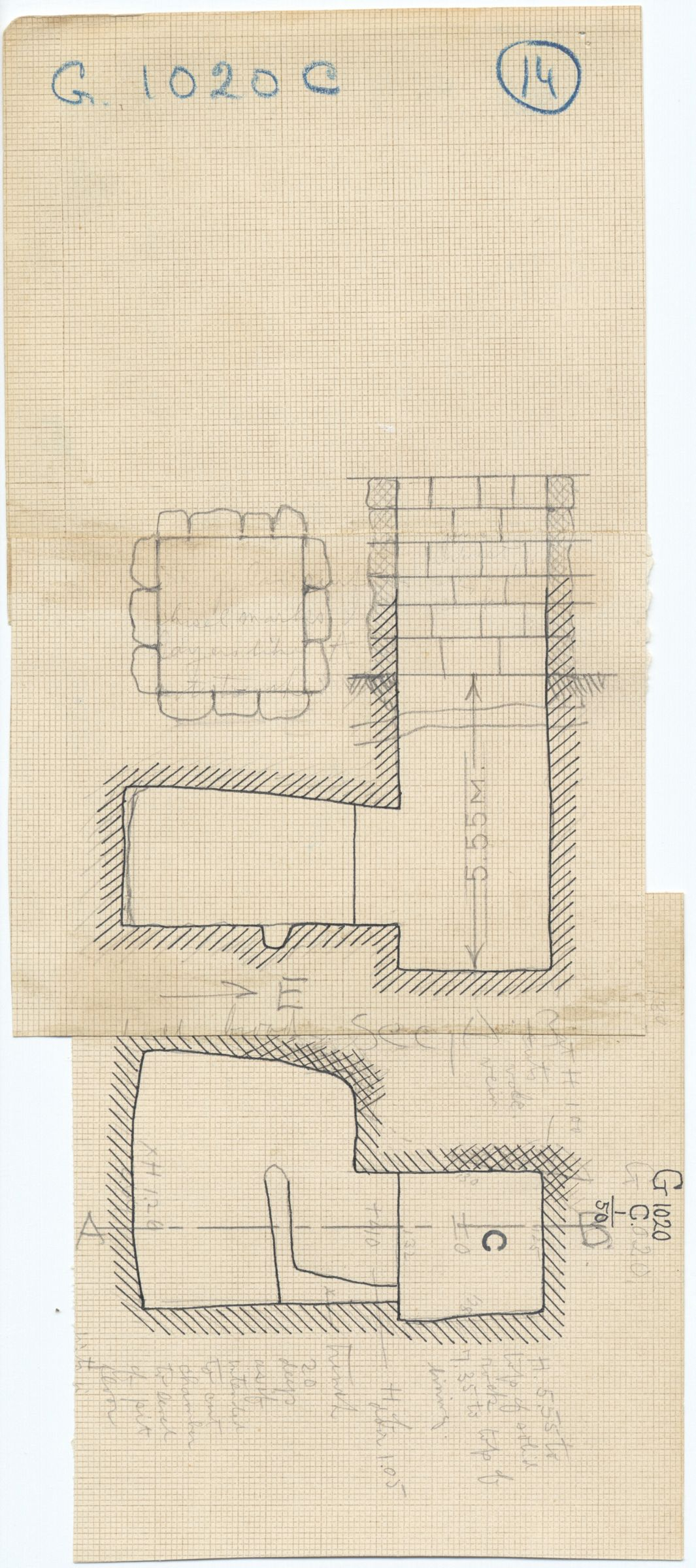 Maps and plans: G 1020, Shaft C