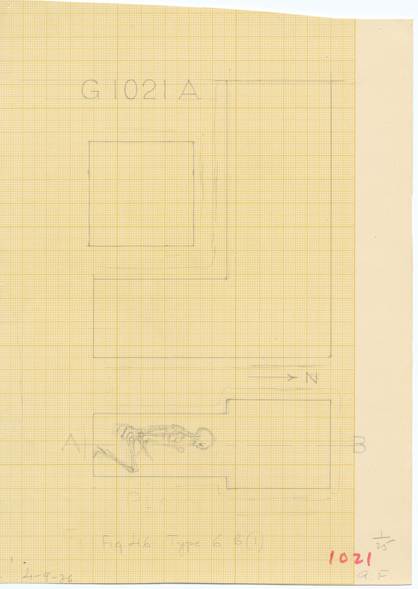 Maps and plans: G 1021, Shaft A