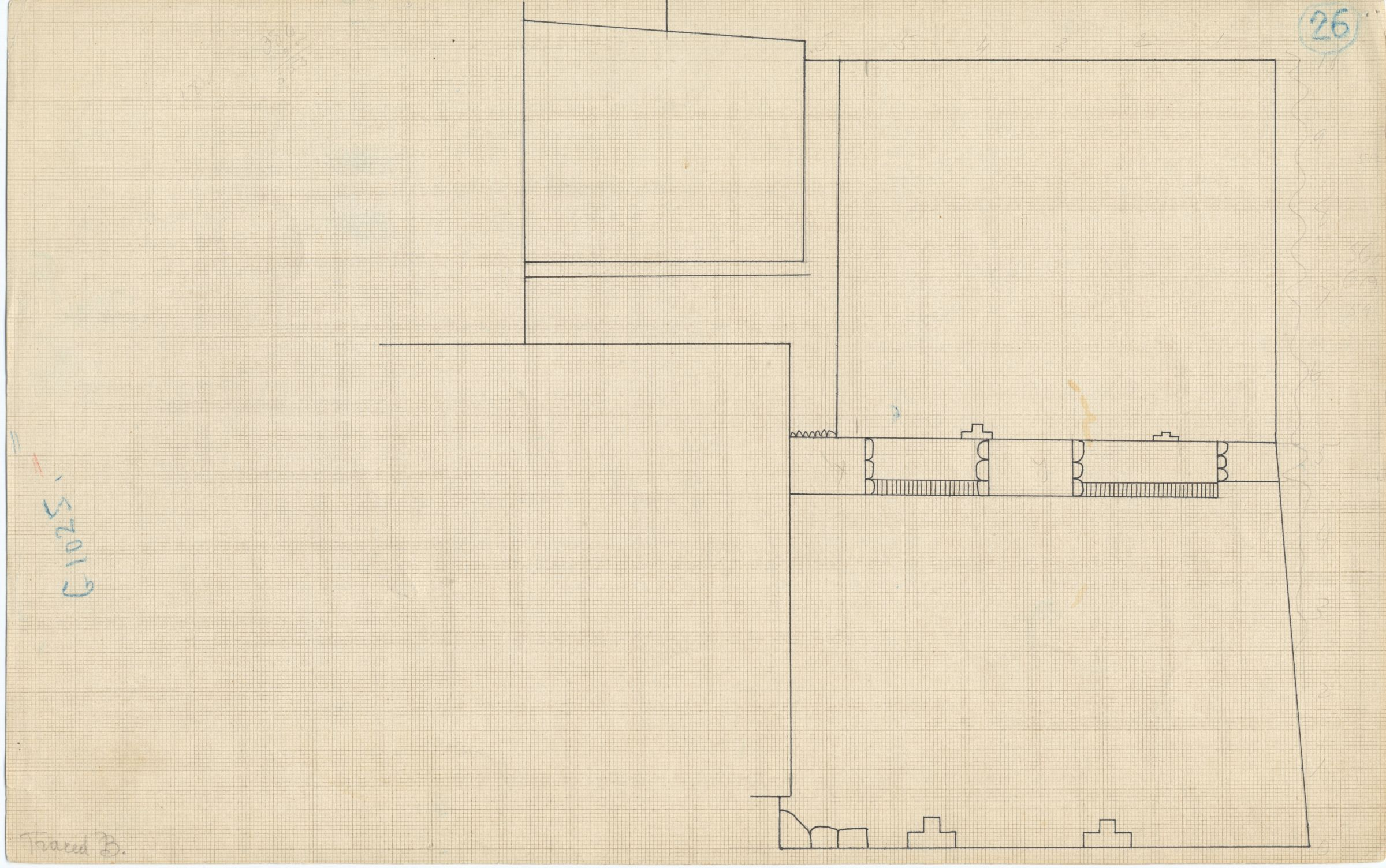 Maps and plans: Plan of G 1025 (G 1025a & G 1025b), with position of G 1023 and G 1024