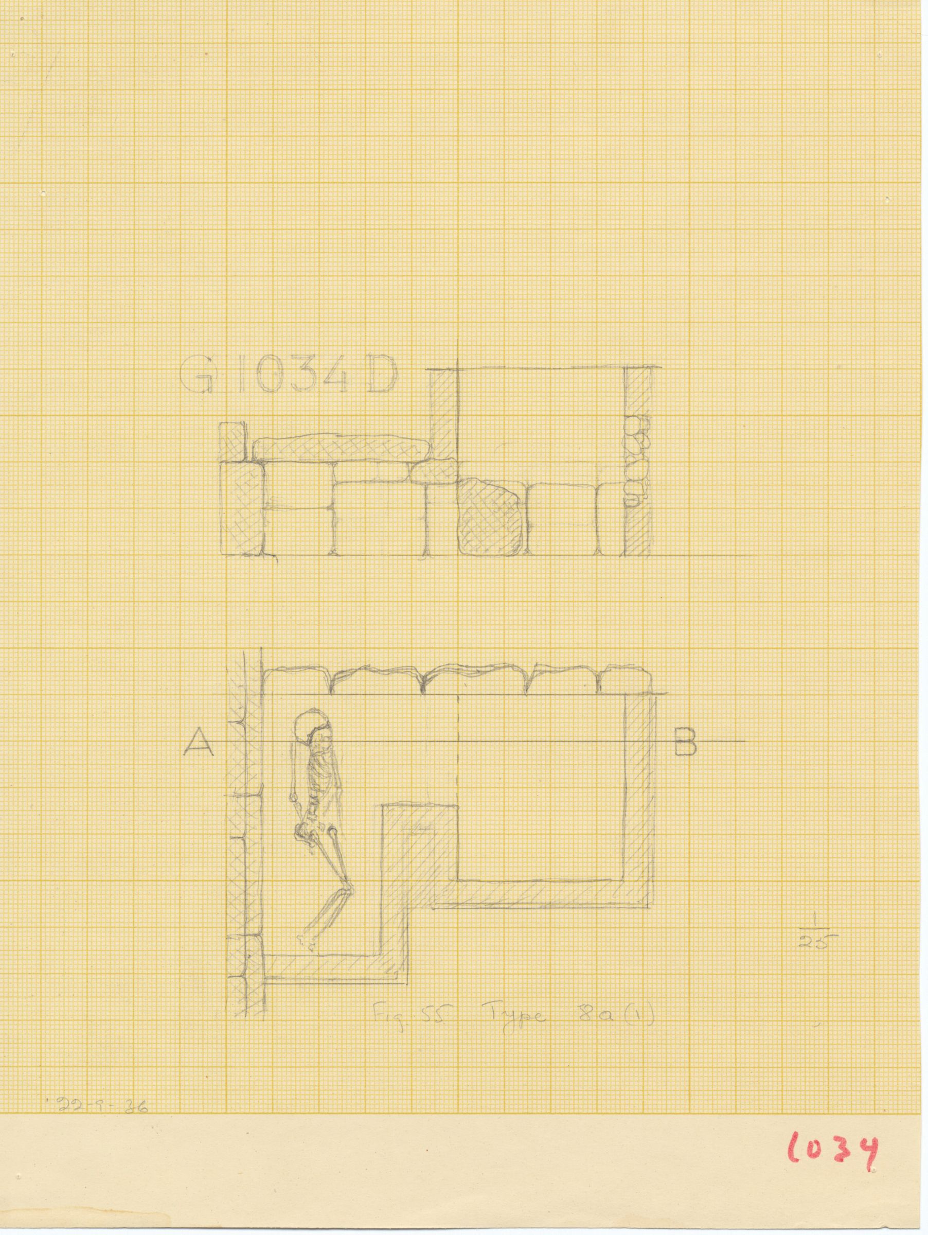 Maps and plans: G 1034, Shaft D