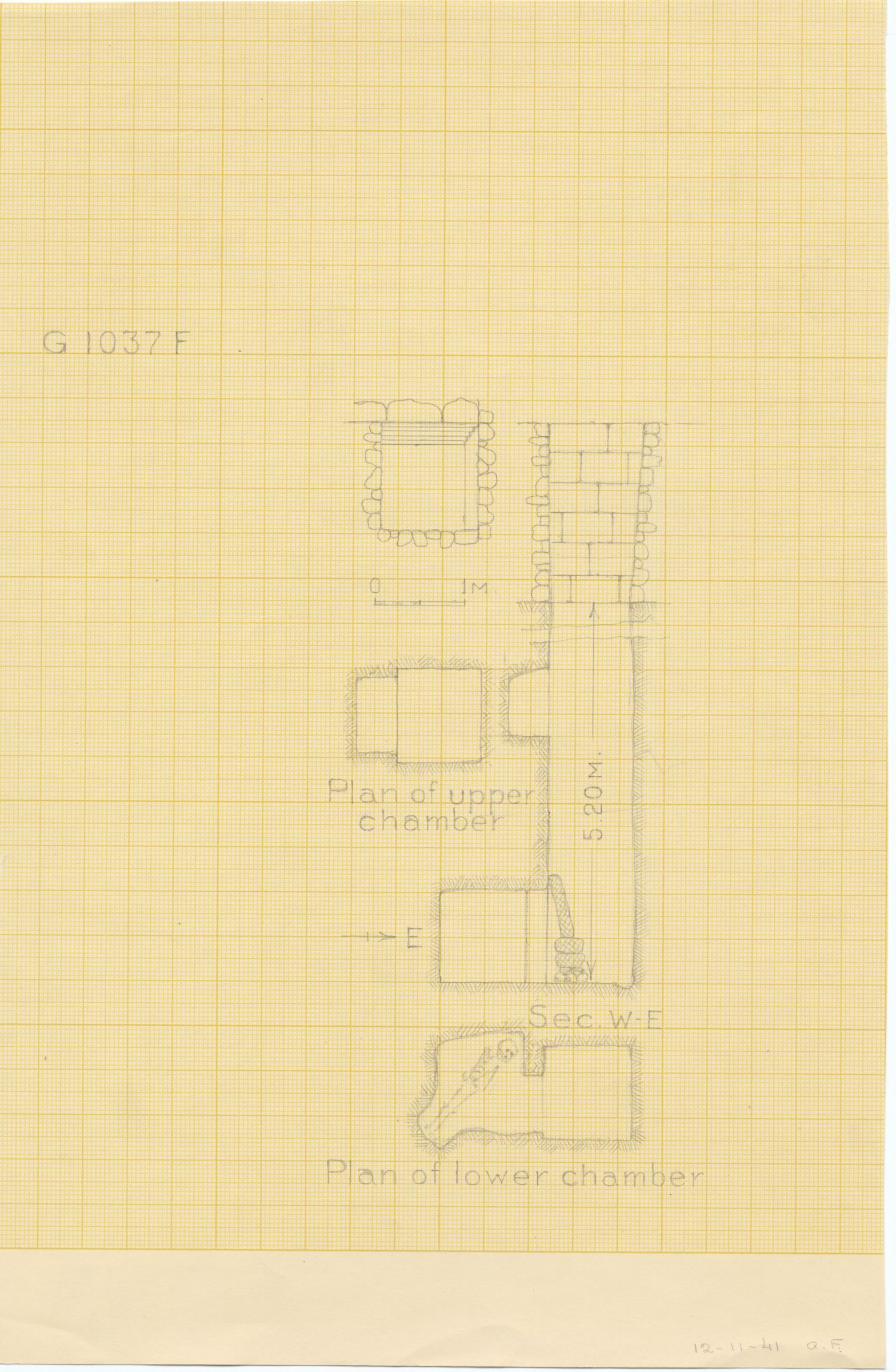 Maps and plans: G 1037-Annex, Shaft F