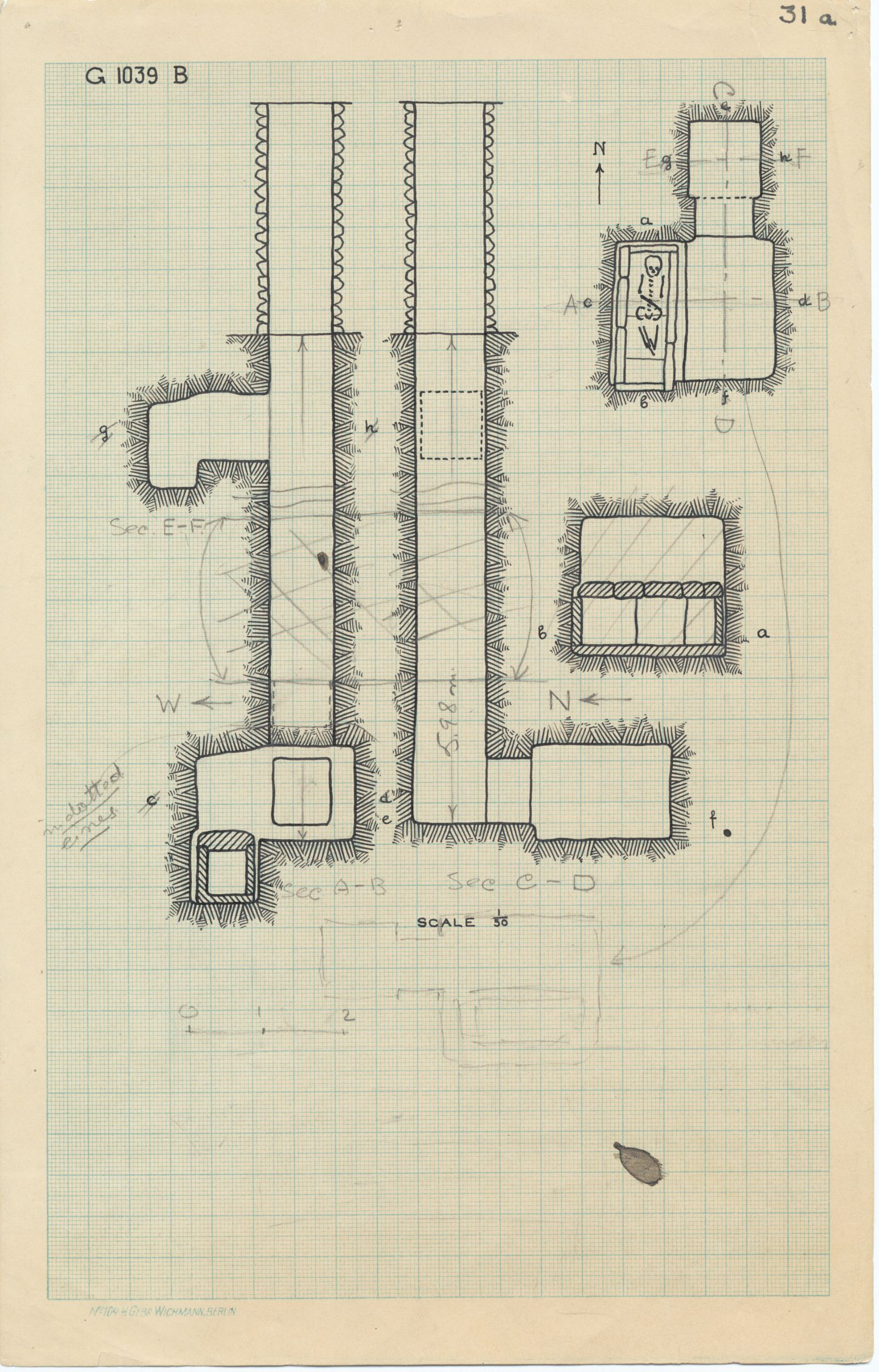 Maps and plans: G 1039, Shaft B