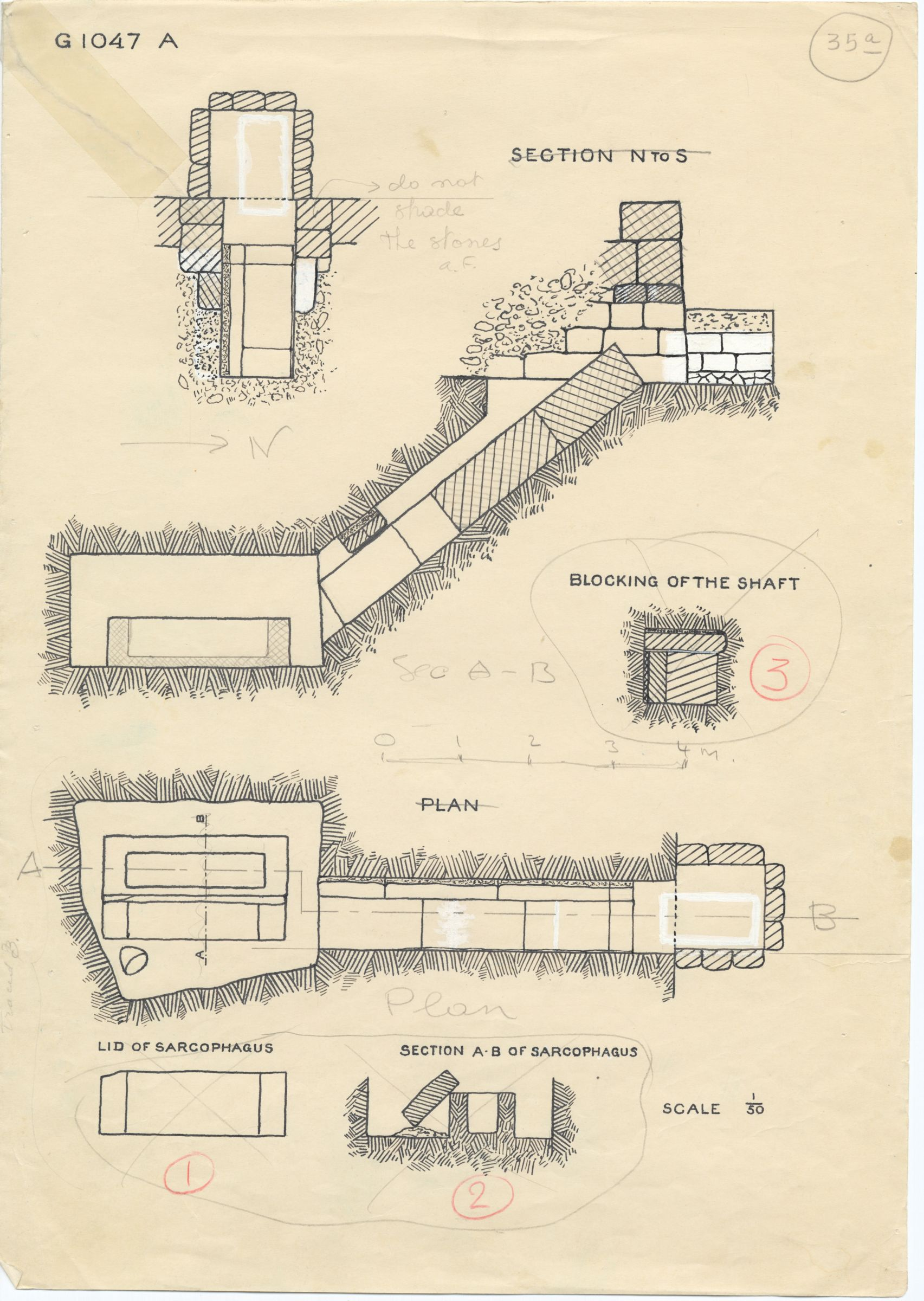 Maps and plans: G 1047, Shaft A