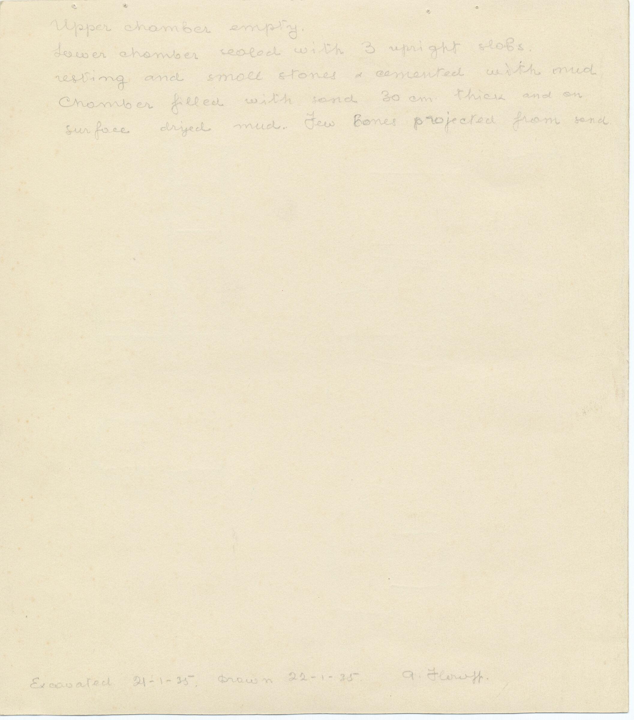 Notes: G 1047, Shaft D, notes