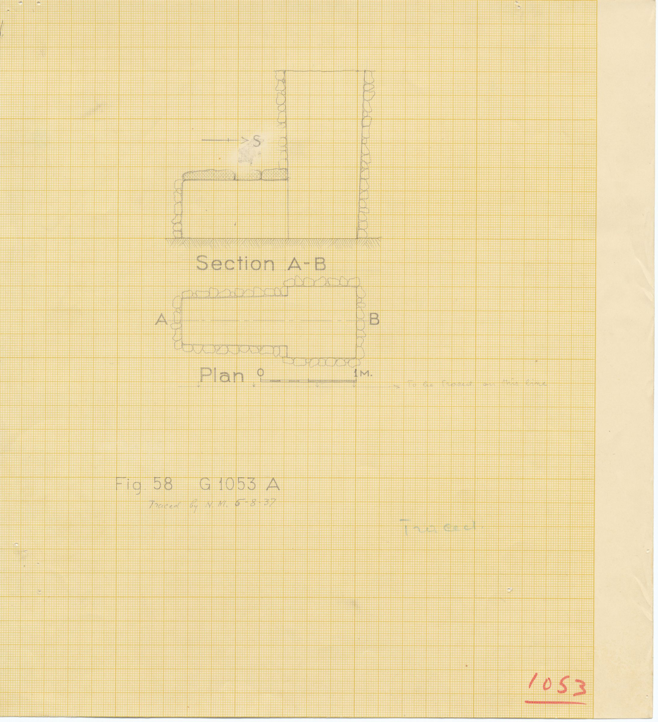 Maps and plans: G 1053, Shaft A