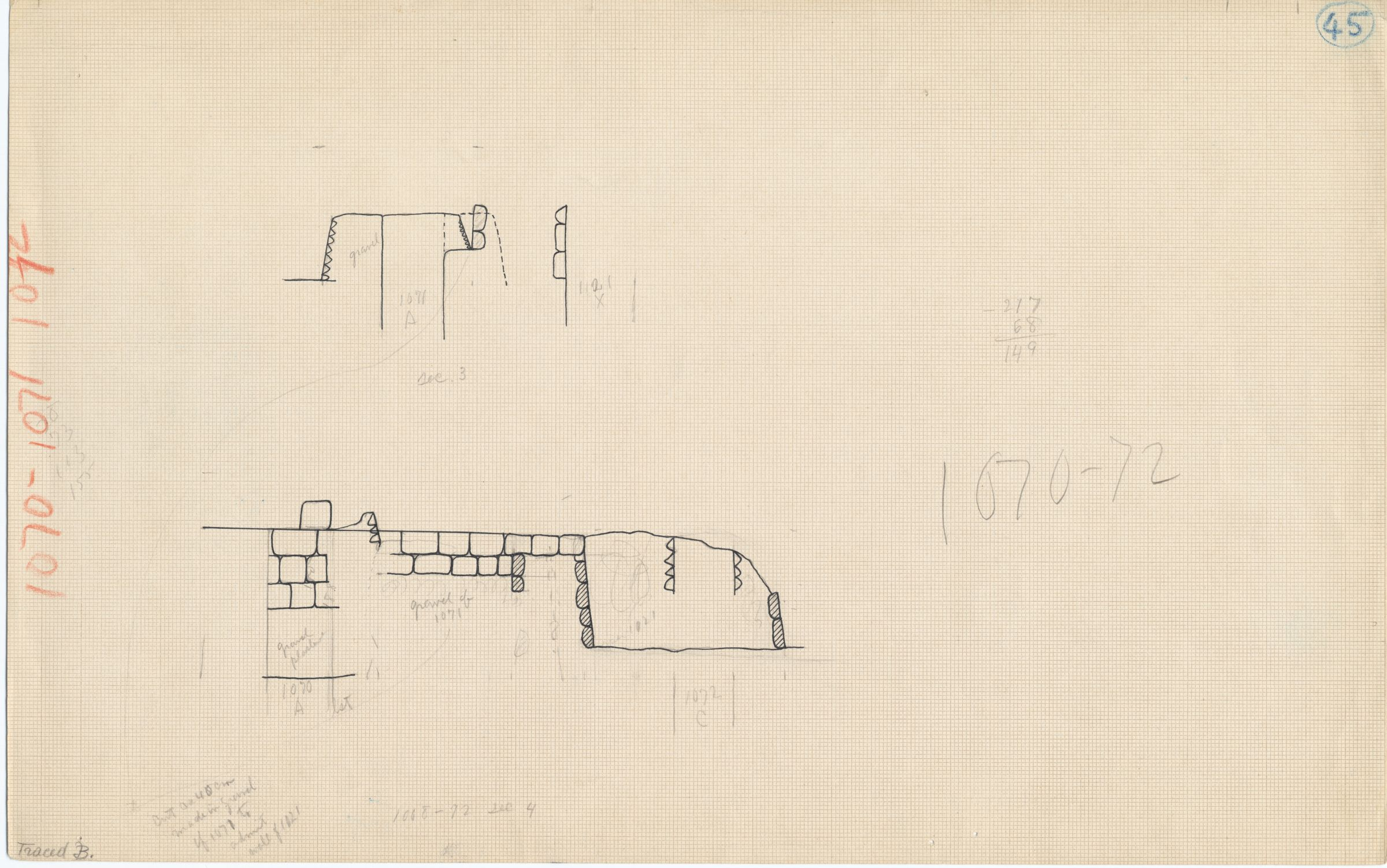 Maps and plans: Section of G 1070, G 1071, G 1072