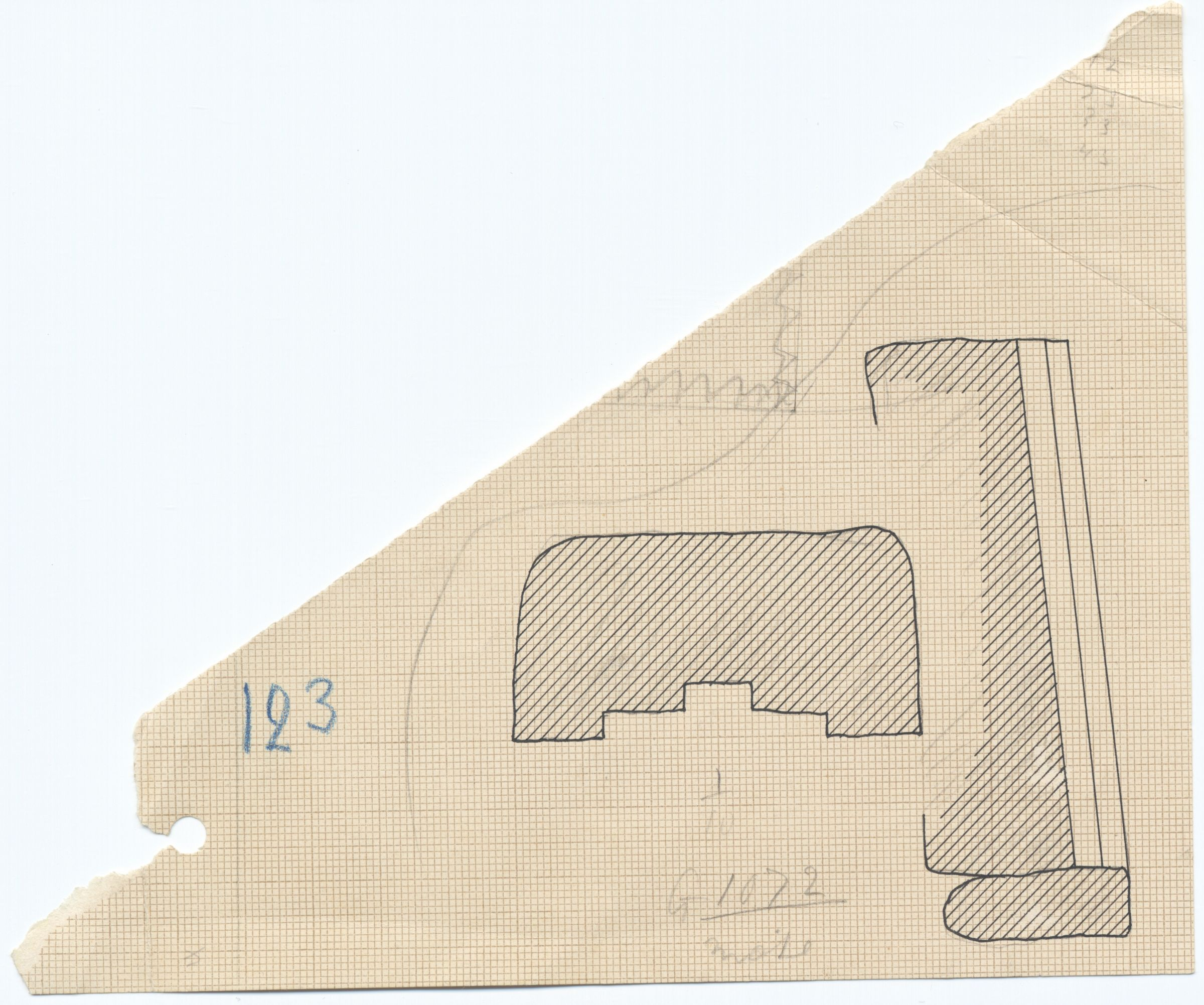 Maps and plans: G 1072, Plan and section of niche