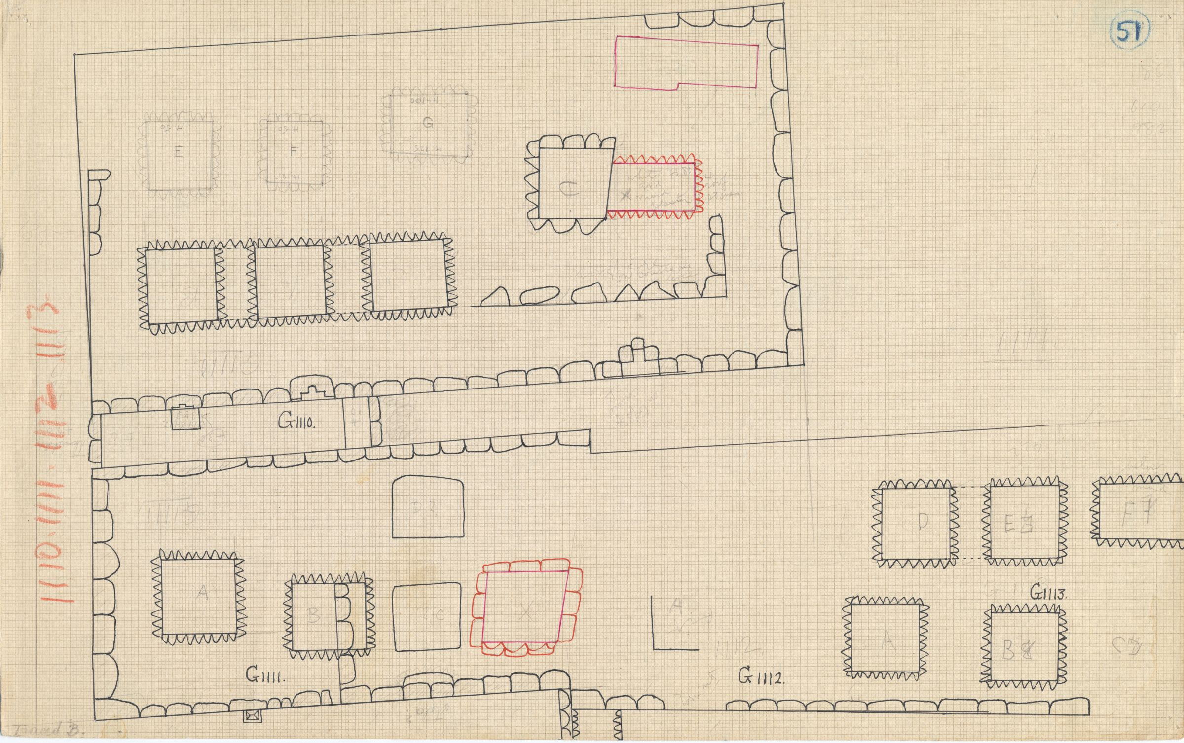 Maps and plans: Plan of G 1110, G 1111, G 1112+1113