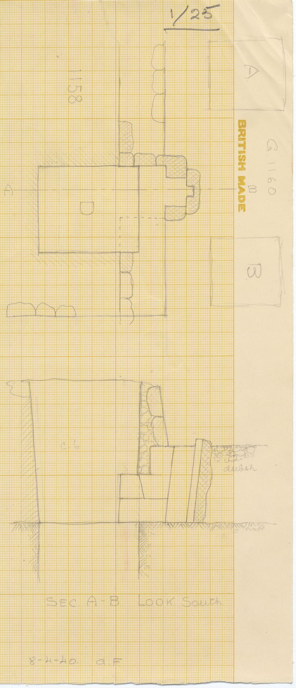 Maps and plans: Partial plan and section of G 1158 and G 1160