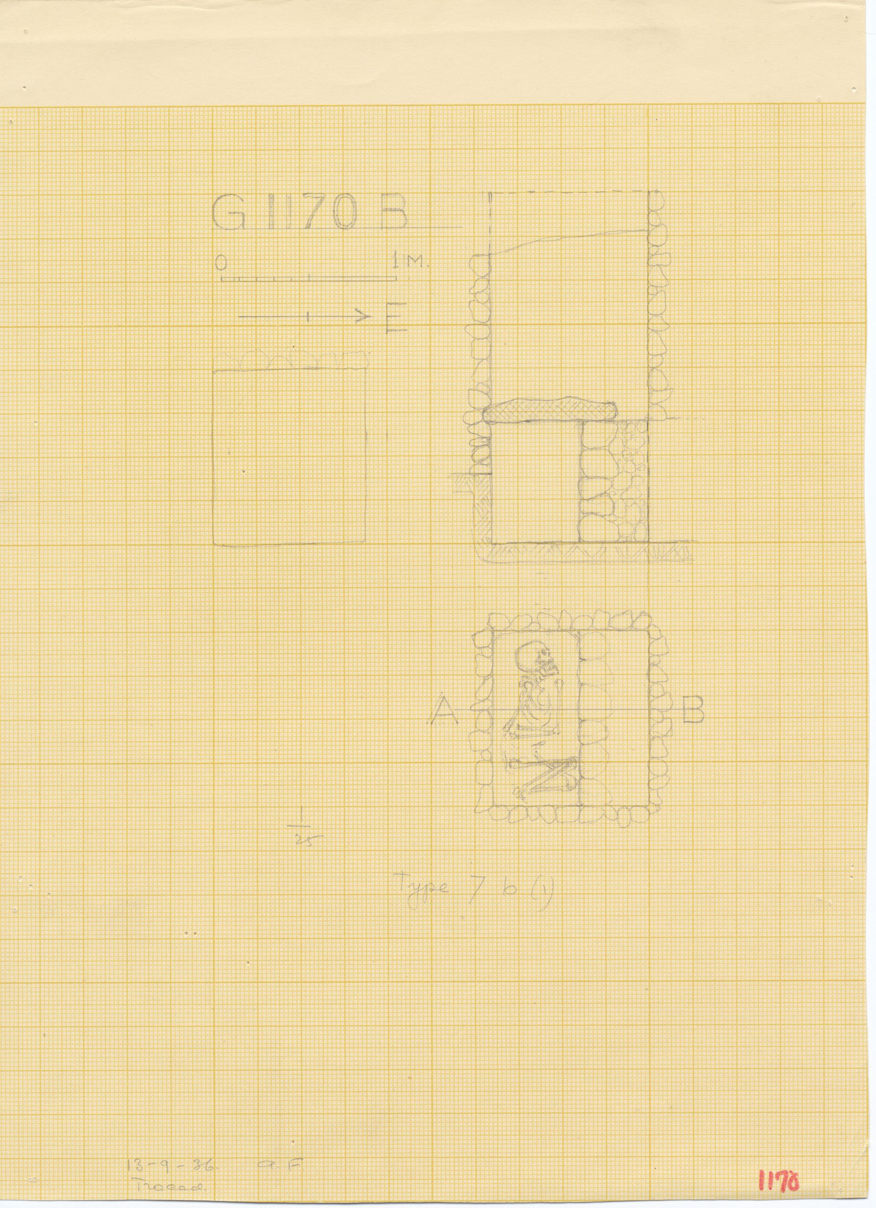 Maps and plans: G 1170, Shaft B