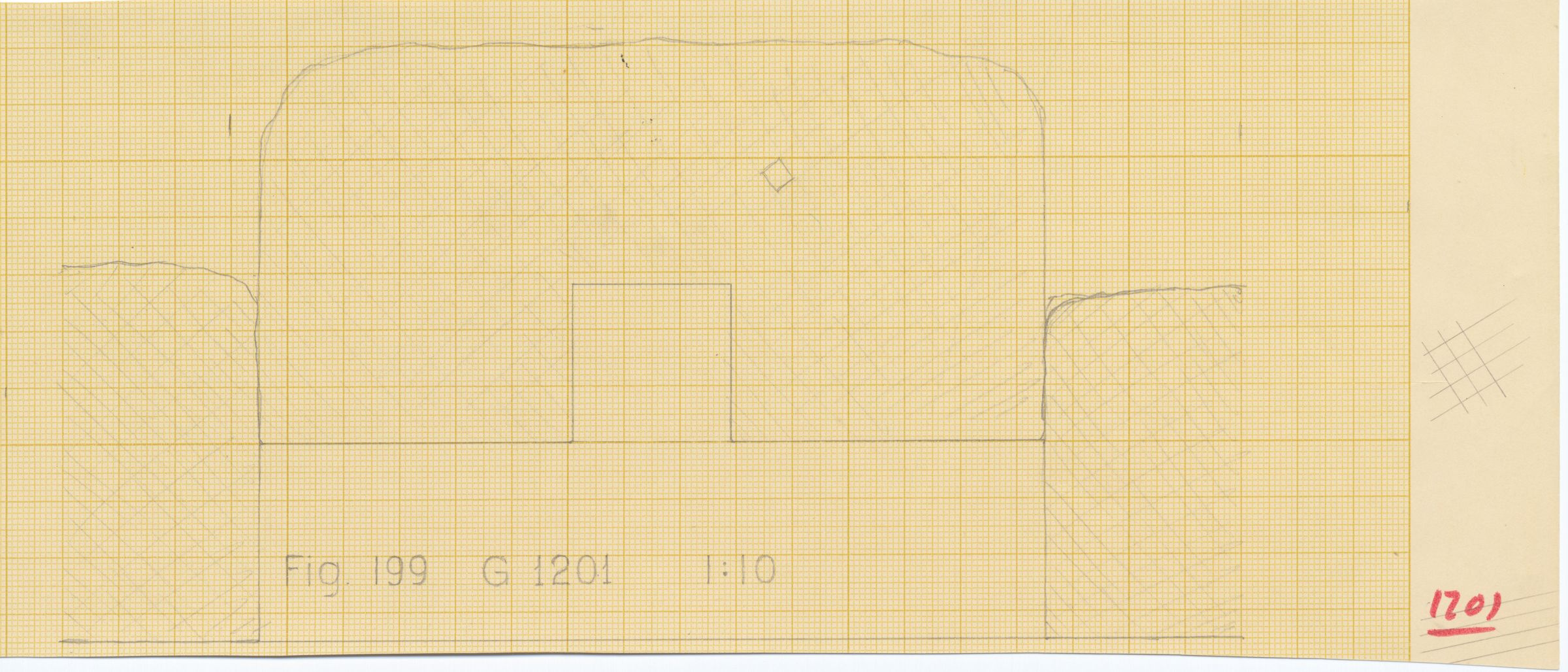 Maps and plans: G 1201, Plan of niche