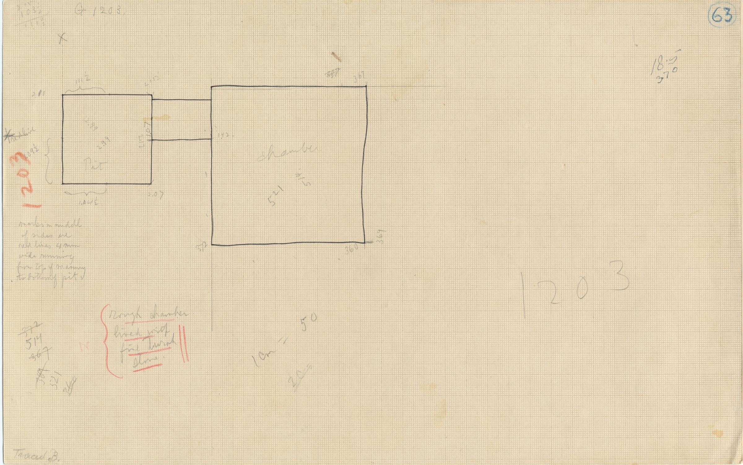 Maps and plans: G 1203, Shaft A