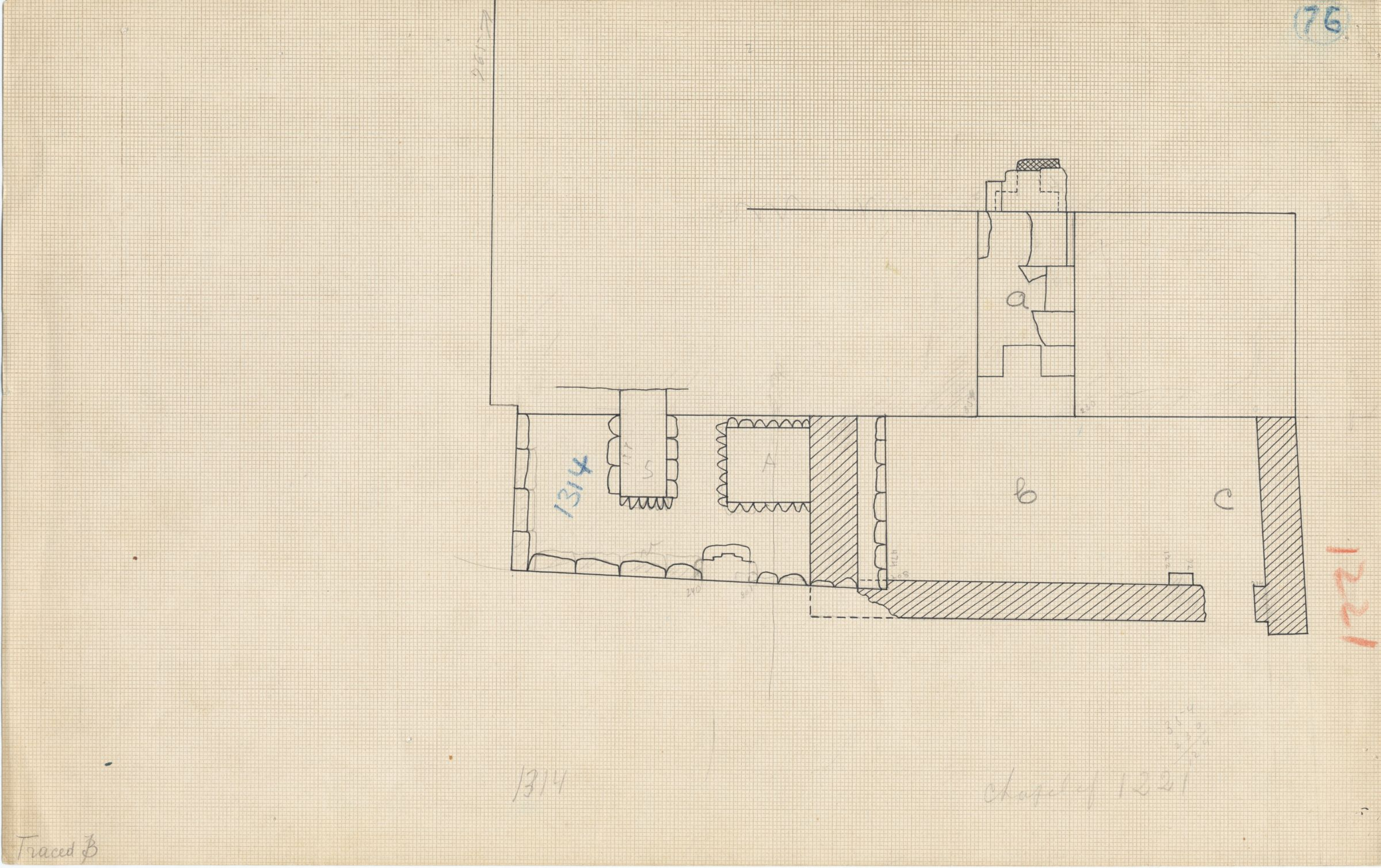 Maps and plans: Plan of G 1314 and G 1221 chapel
