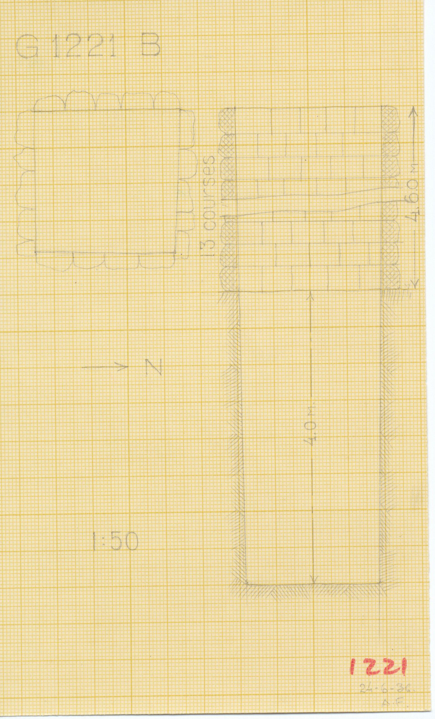 Maps and plans: G 1221, Shaft B