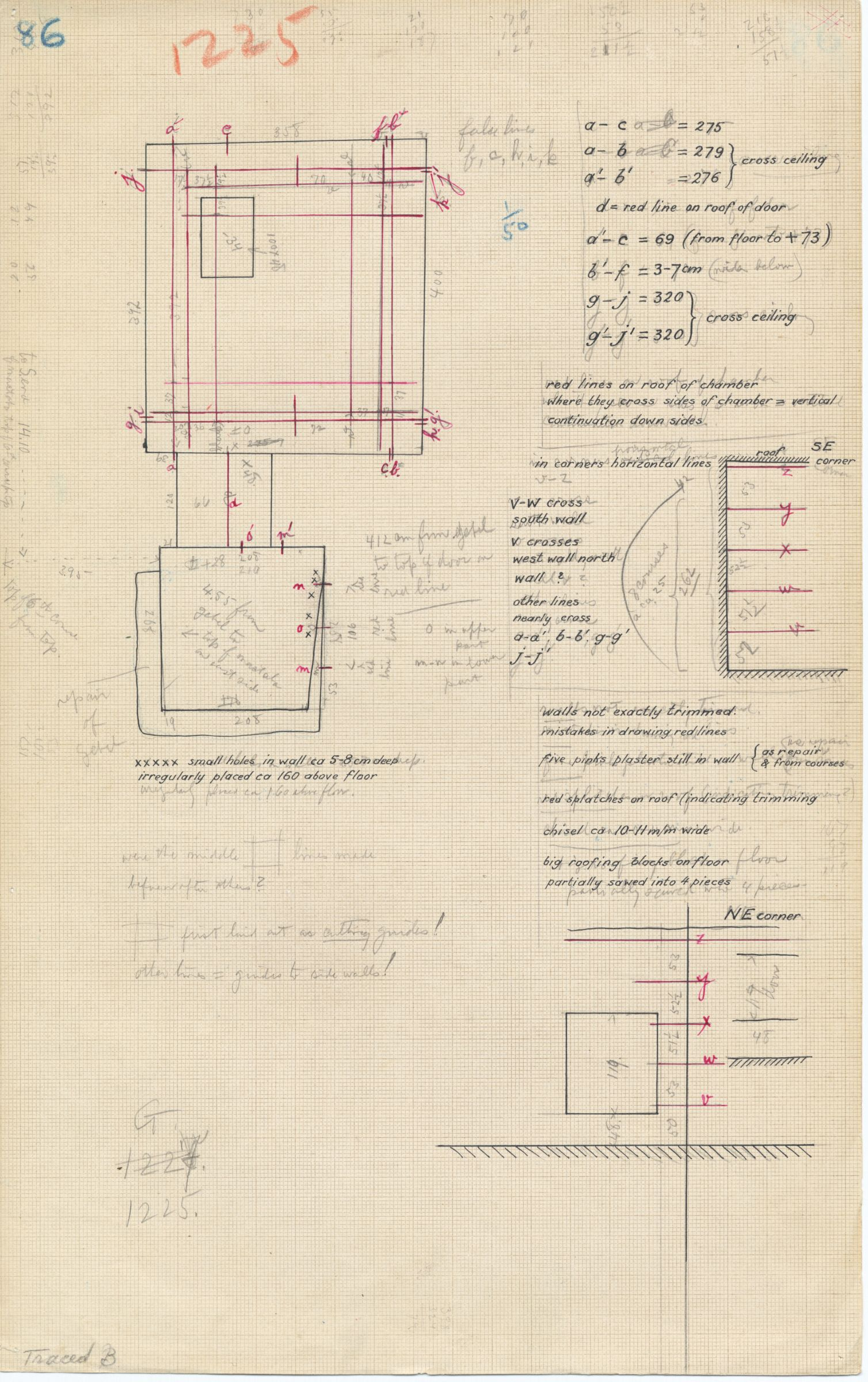 Maps and plans: G 1225, Shaft A, plan