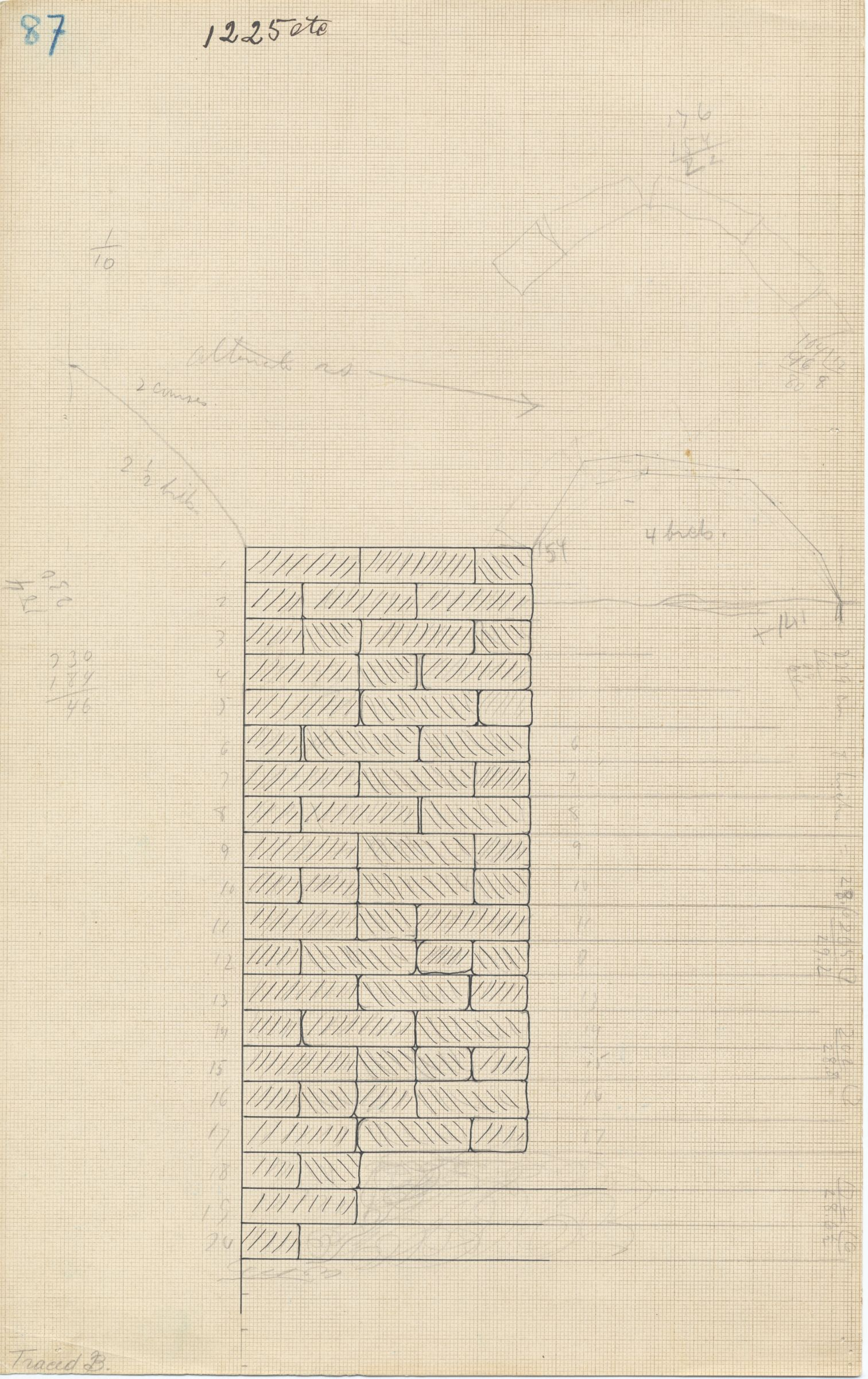 Maps and plans: G 1225-Annex, part of chapel mud brick vault