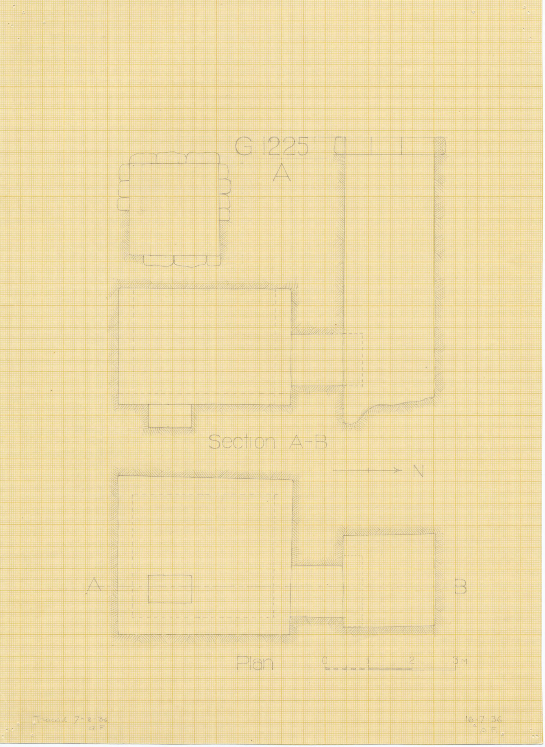 Maps and plans: G 1225, Shaft A