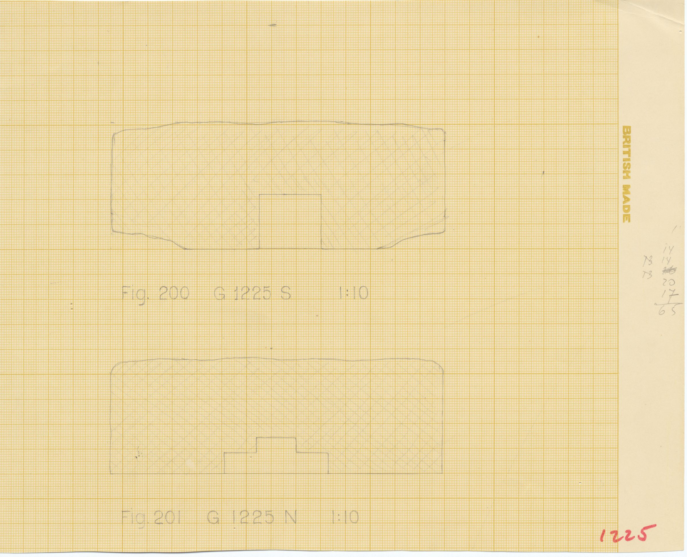 Maps and plans: G 1225, Plan of north and south niches (north niche = niche of G 1225-Annex chapel)