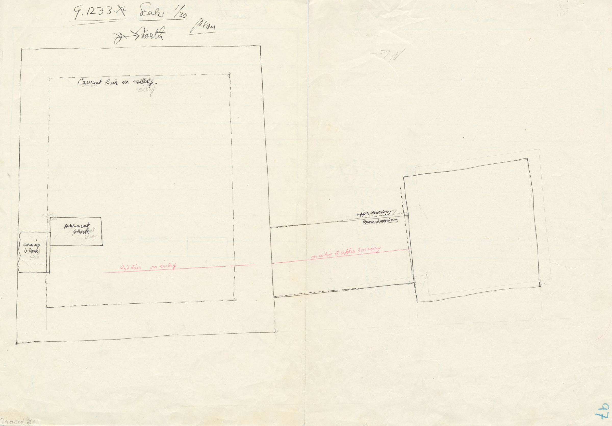Maps and plans: G 1233, Shaft A, plan
