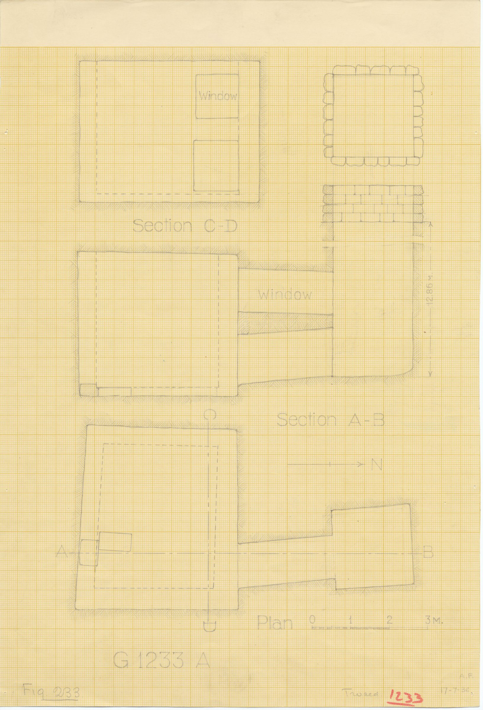 Maps and plans: G 1233, Shaft A