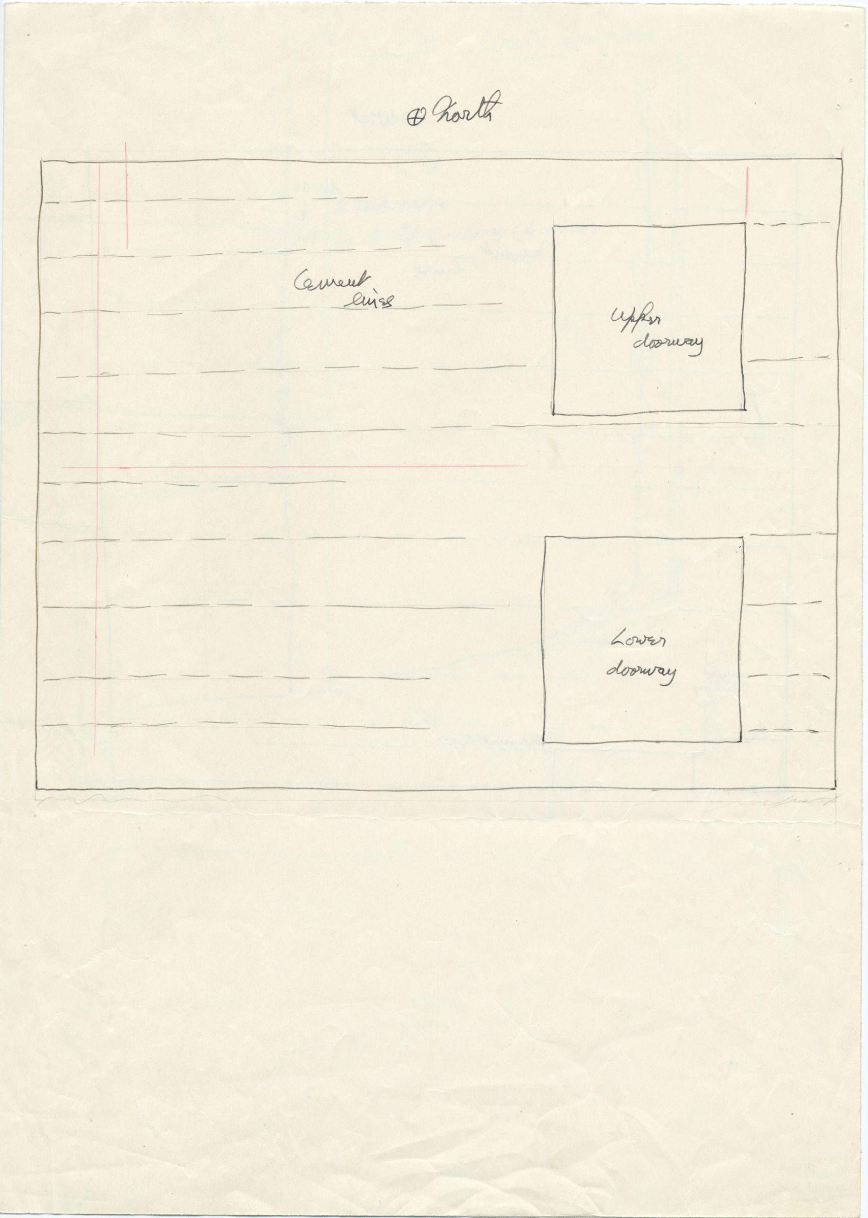 Maps and plans: G 1233, Shaft A, wall elevation (north)