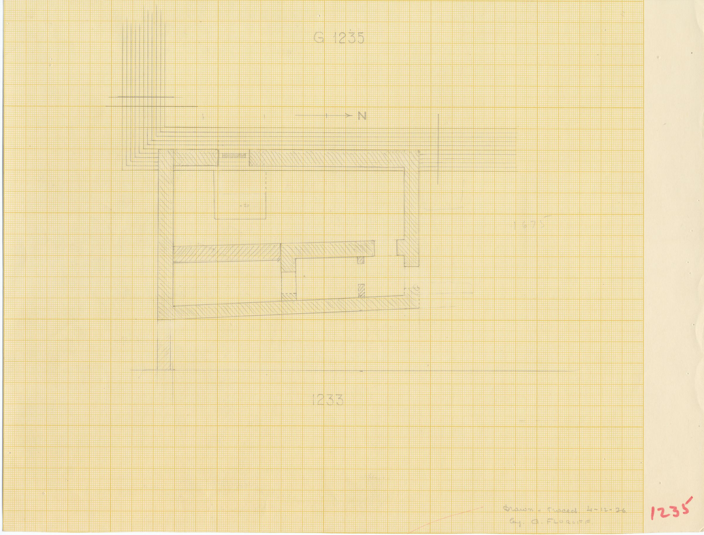 Maps and plans: G 1235, Plan of chapel