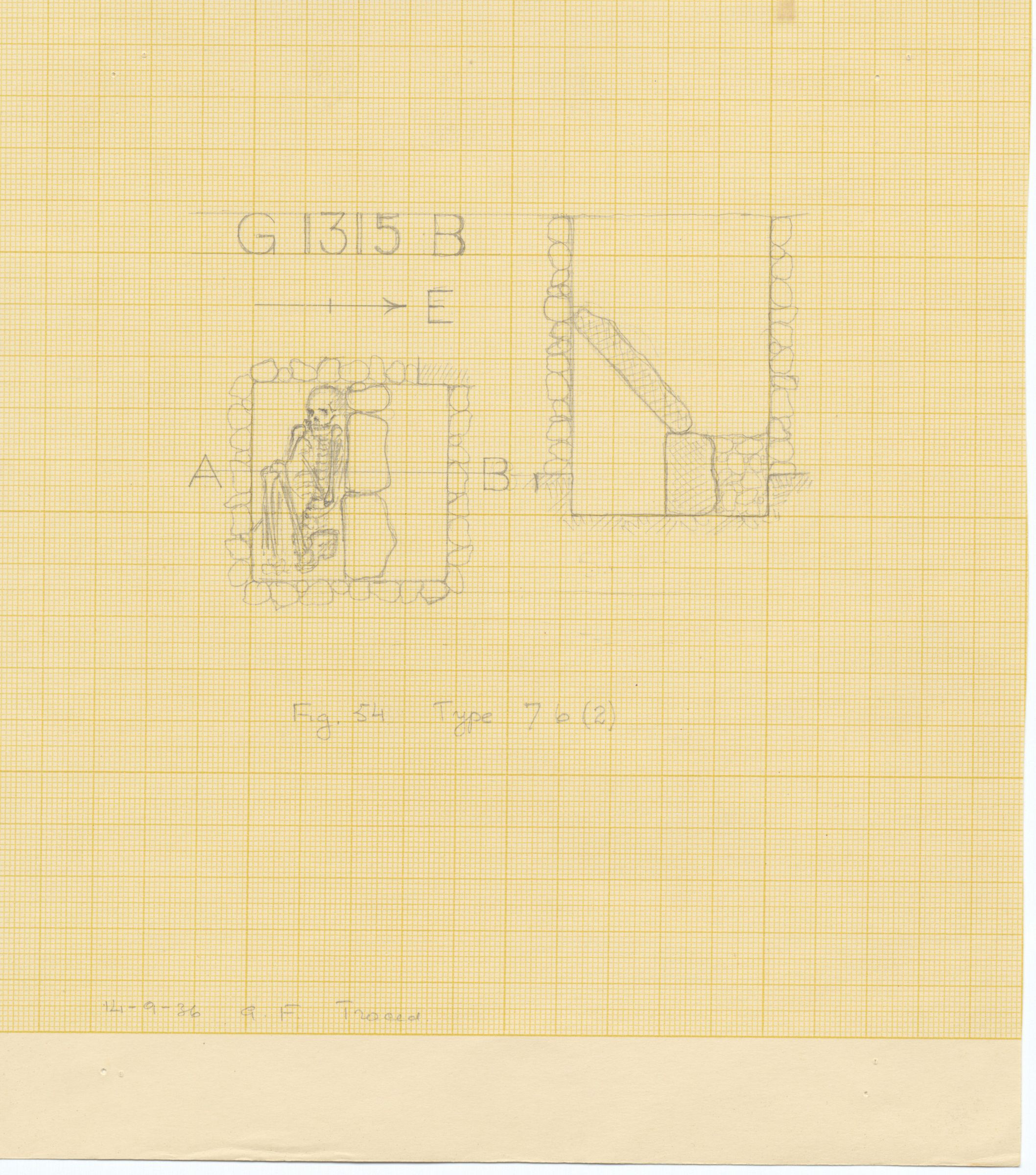 Maps and plans: G 1224+1311: G 1224, Shaft B