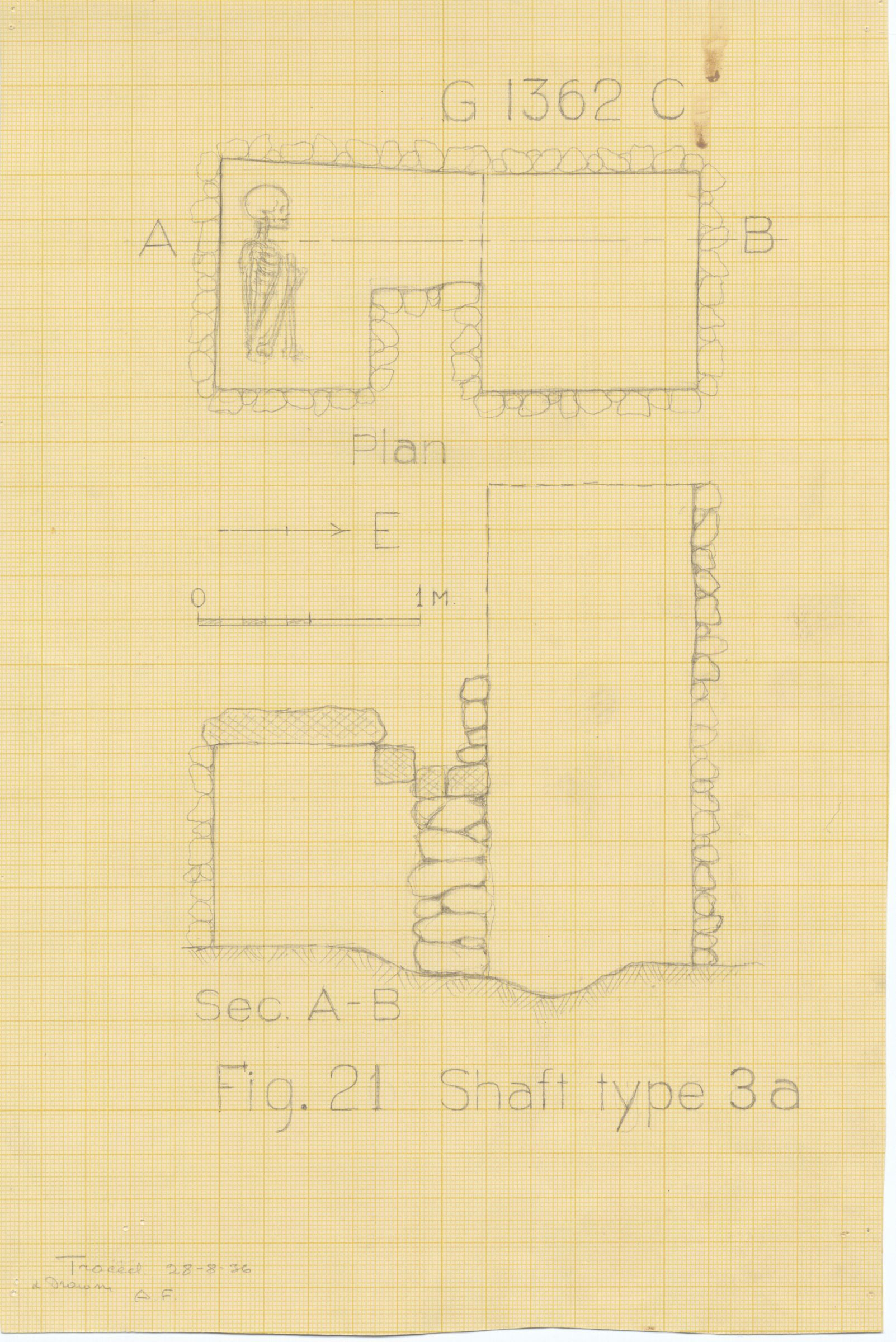 Maps and plans: G 1362, Shaft C