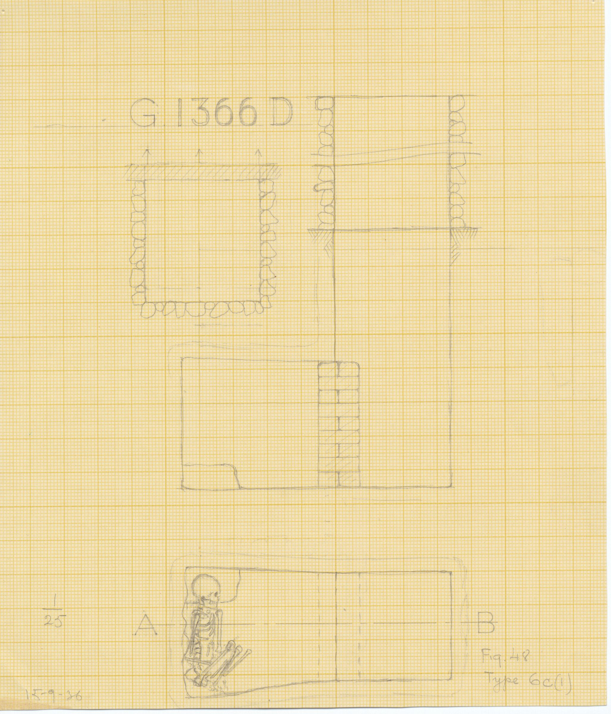 Maps and plans: G 1366, Shaft D