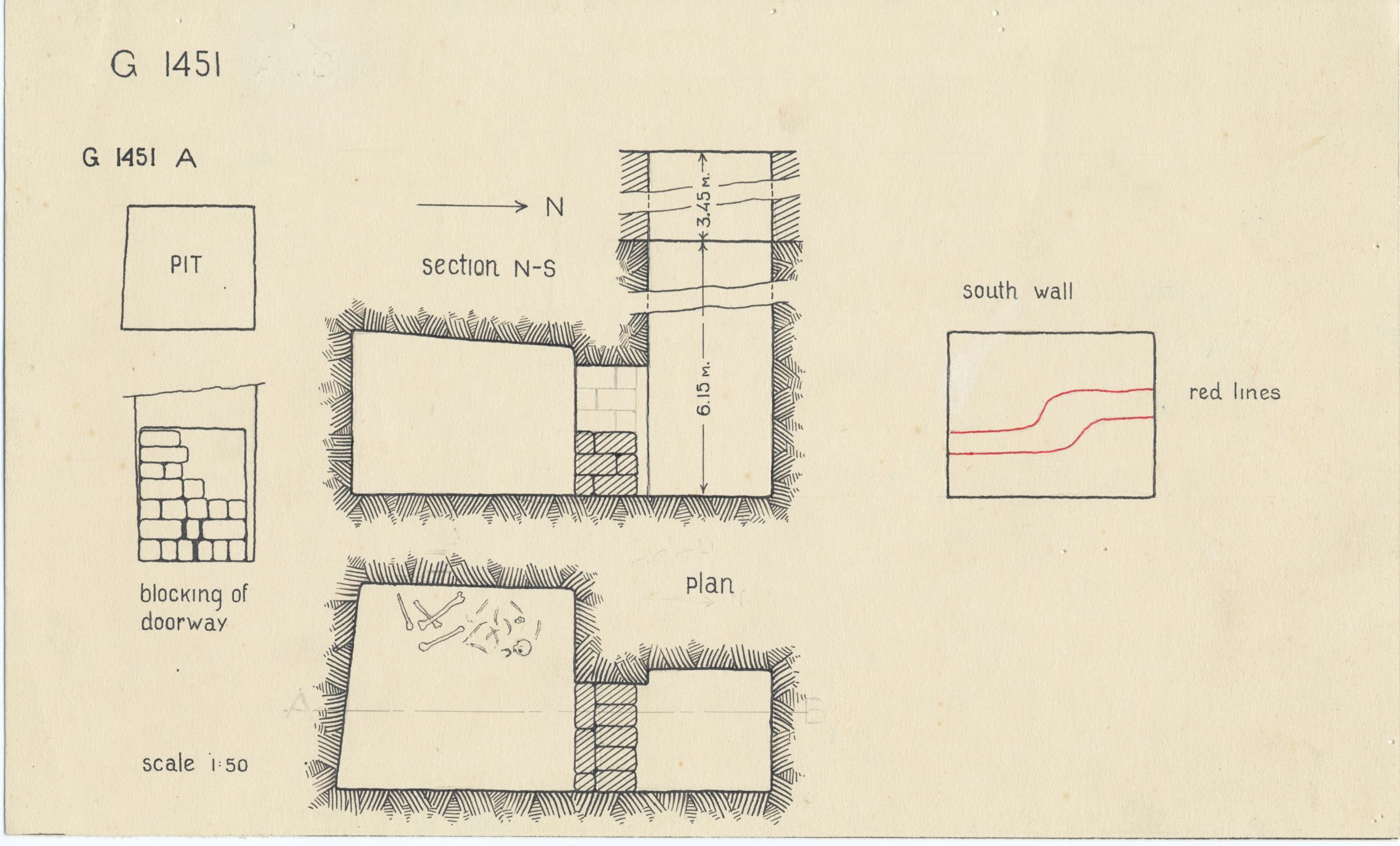 Maps and plans: G 1451, Shaft A