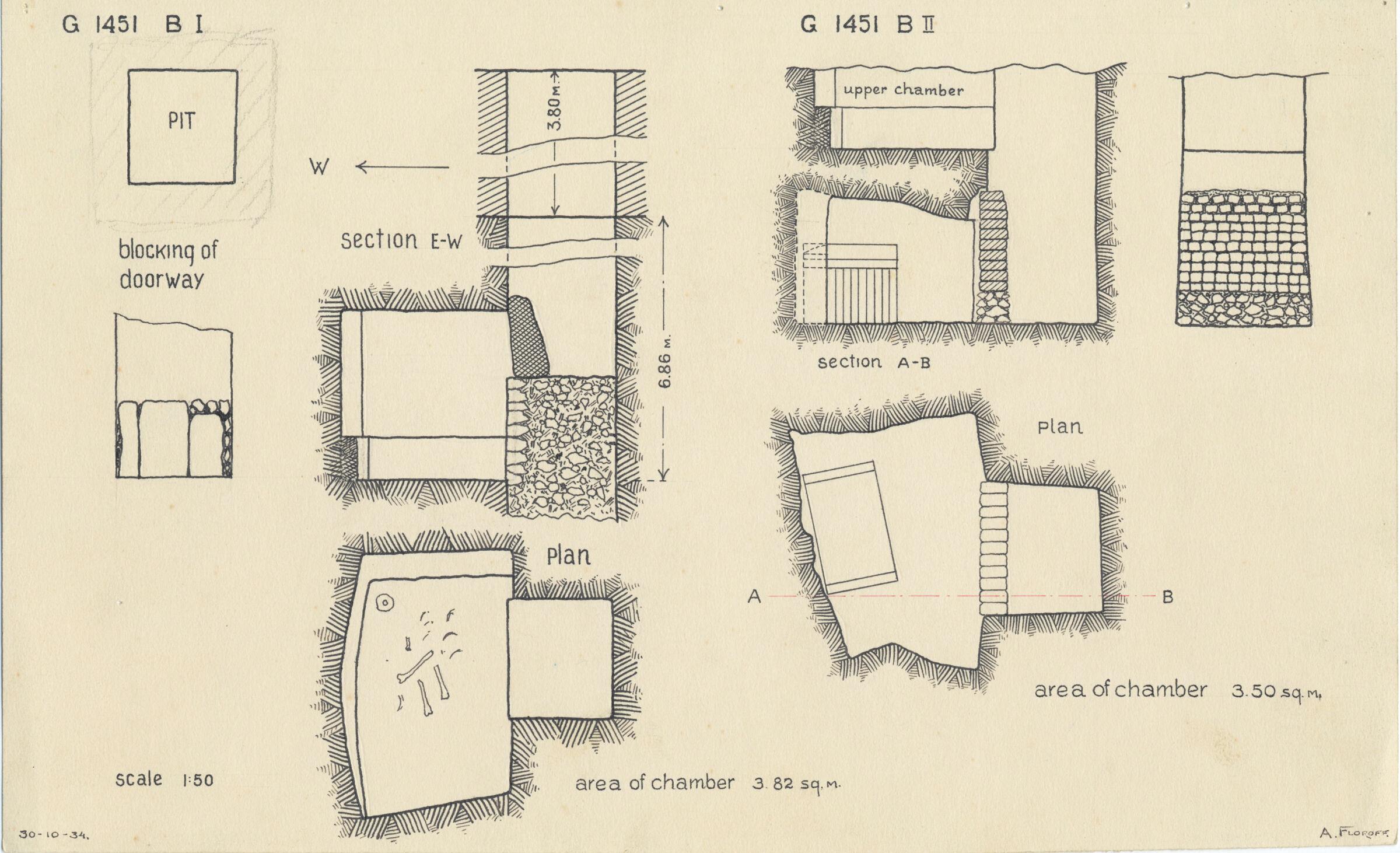 Maps and plans: G 1451, Shaft B (I & II)