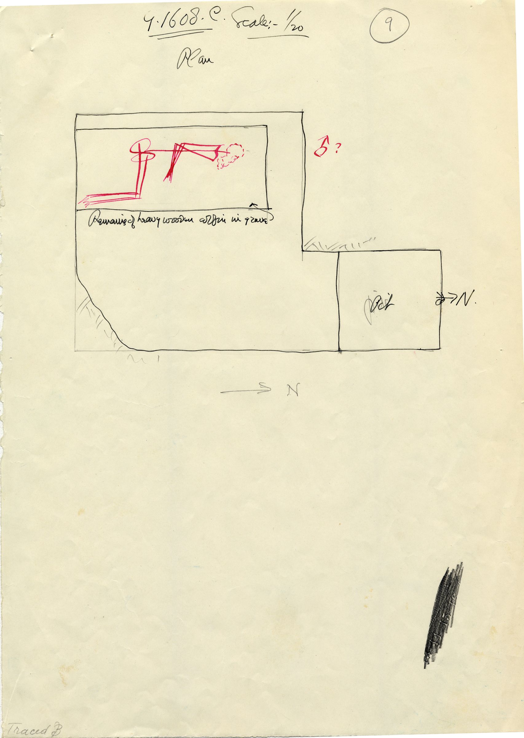 Maps and plans: G 1608, Shaft C