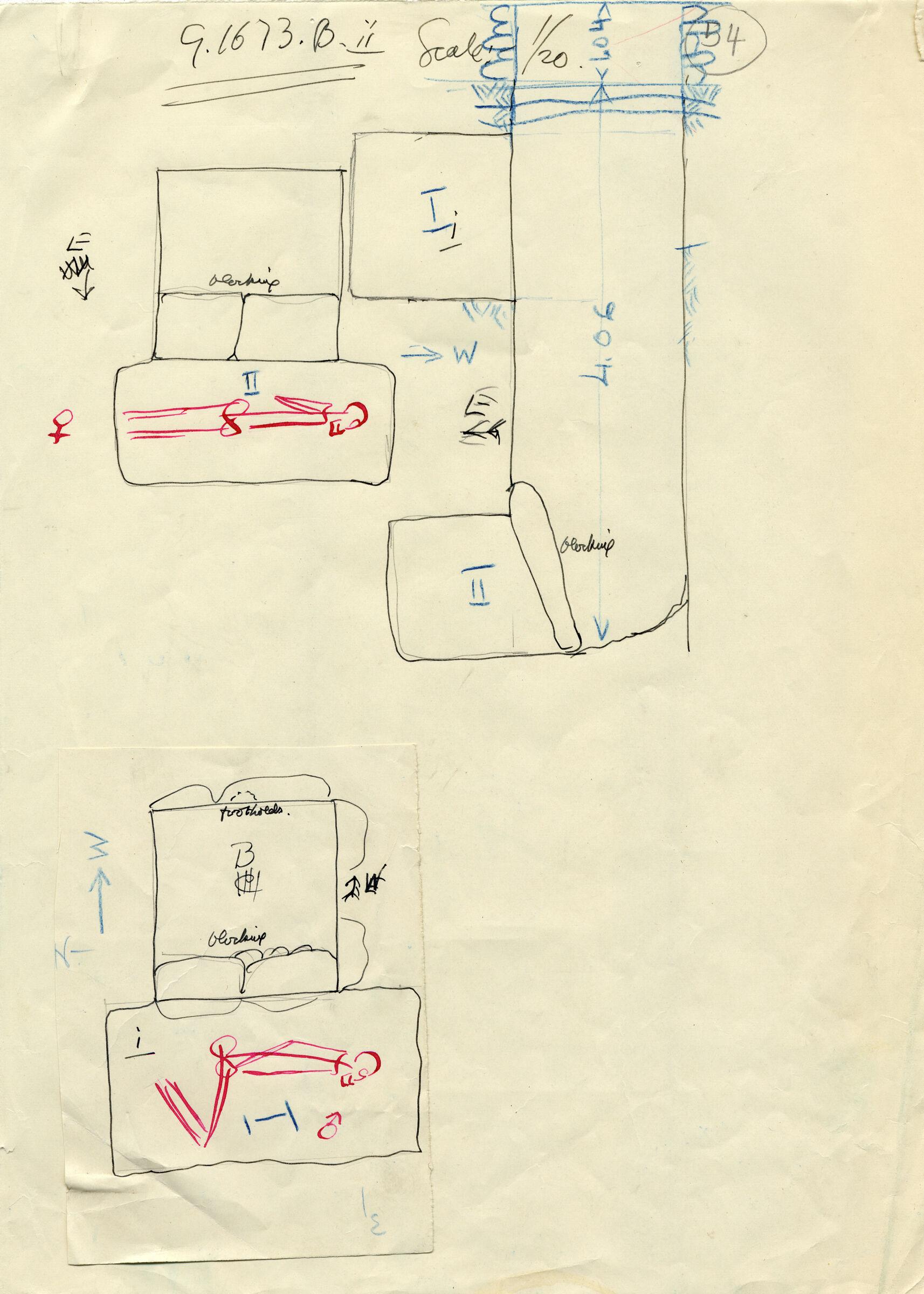 Maps and plans: G 1673, Shaft B (I & II)
