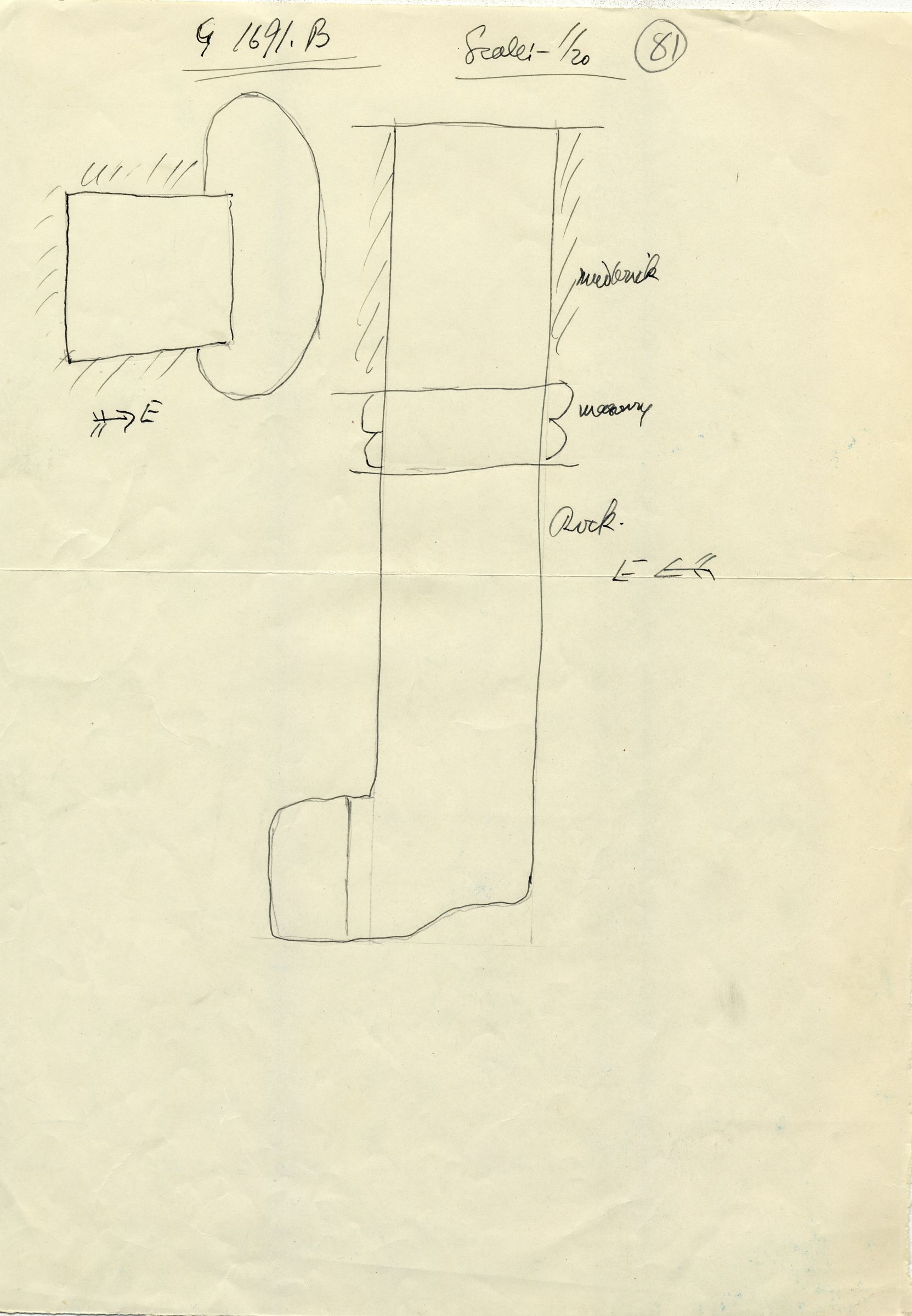 Maps and plans: G 1691, Shaft B