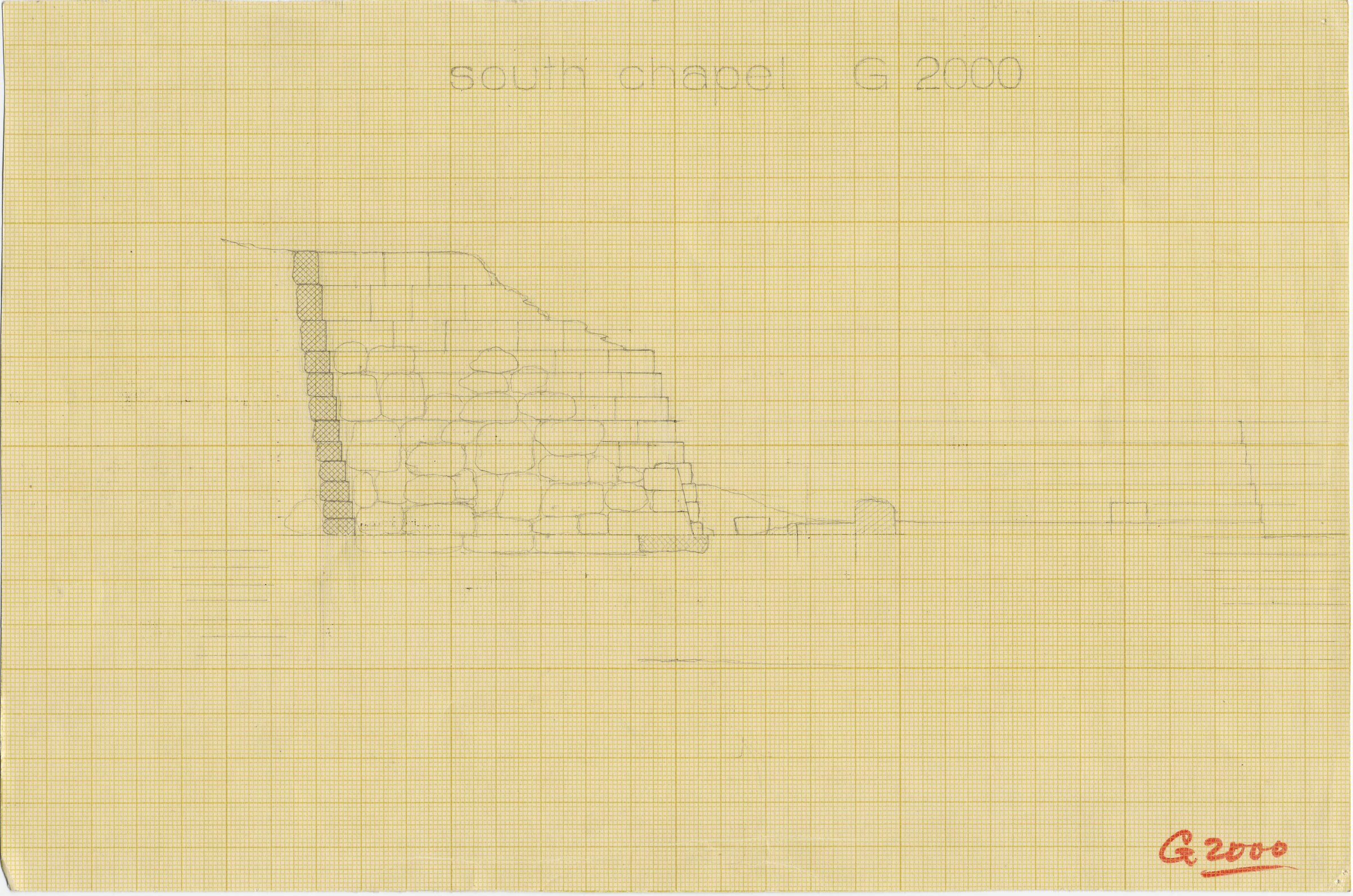 Maps and plans: G 2000 = Lepsius 23, Section of south chapel