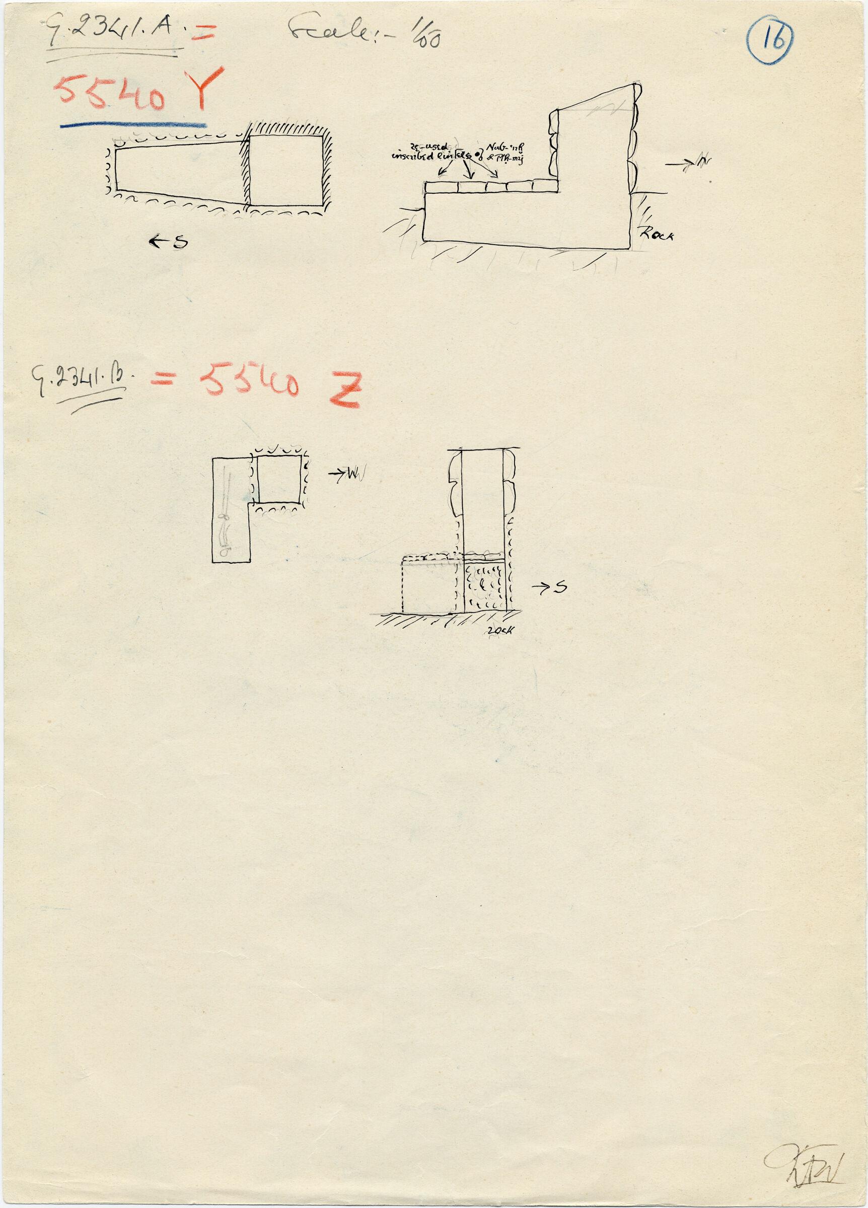 Maps and plans: G 2341 A = G 5540, Shaft Y; G 2341 B = G 5540, Shaft Z