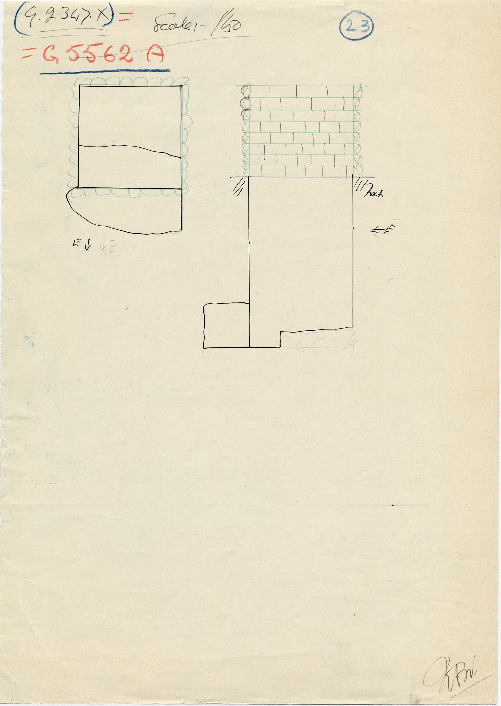 Maps and plans: G 2347 X = G 5562, Shaft A