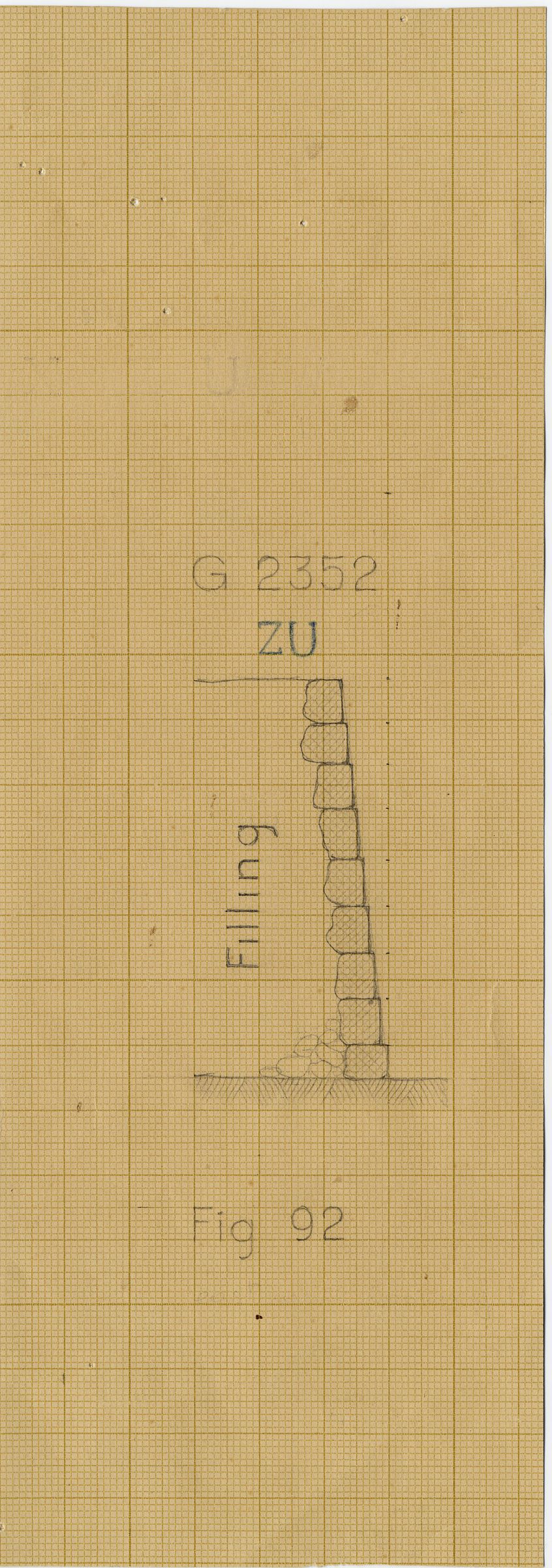 Maps and plans: G 2352, Section of casing