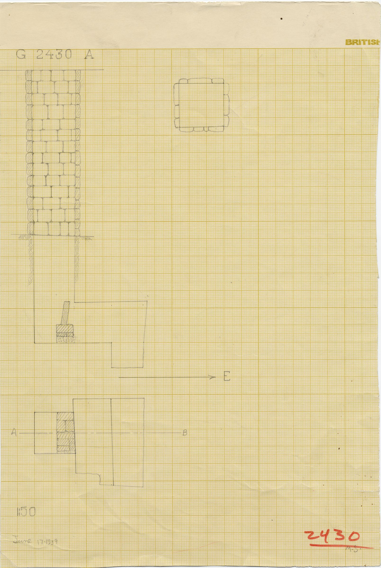 Maps and plans: G 2430, Shaft A