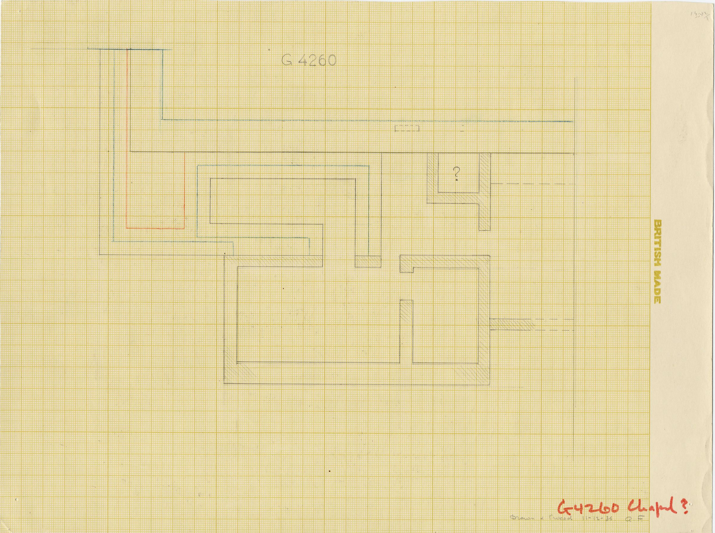 Maps and plans: G 4260, Plan of chapel