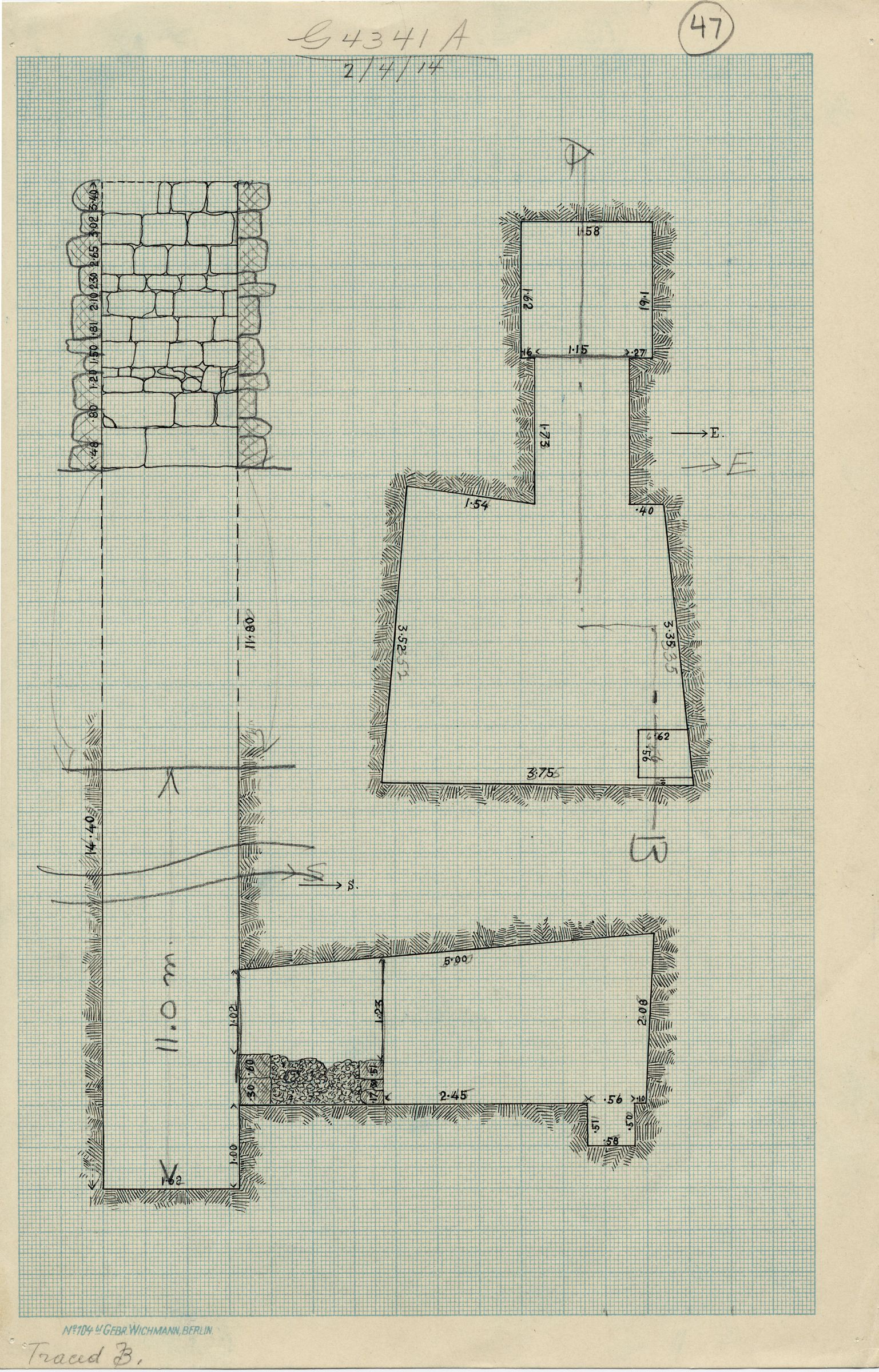 Maps and plans: G 4341, Shaft A