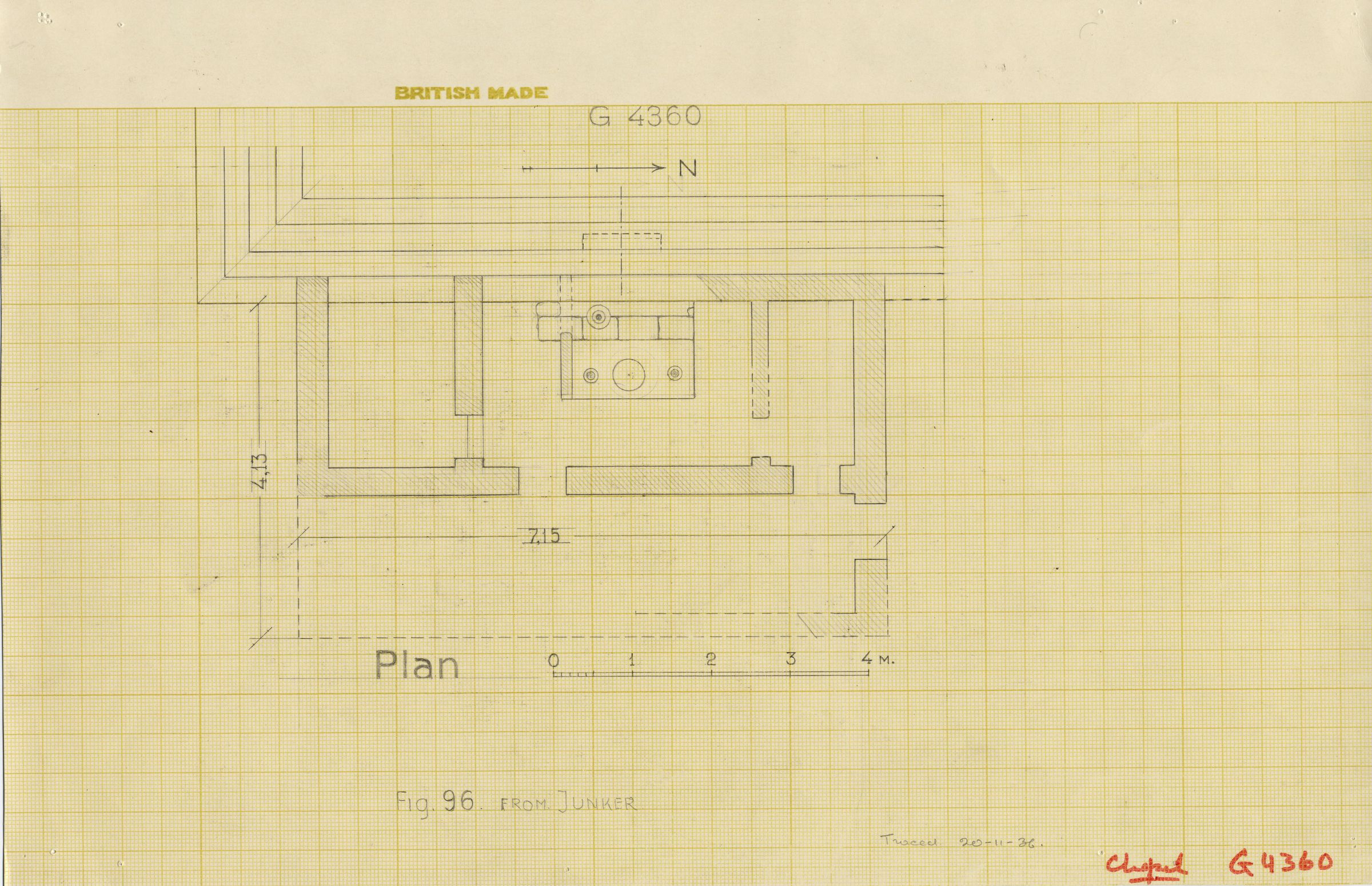 Maps and plans: G 4360, Plan of chapel