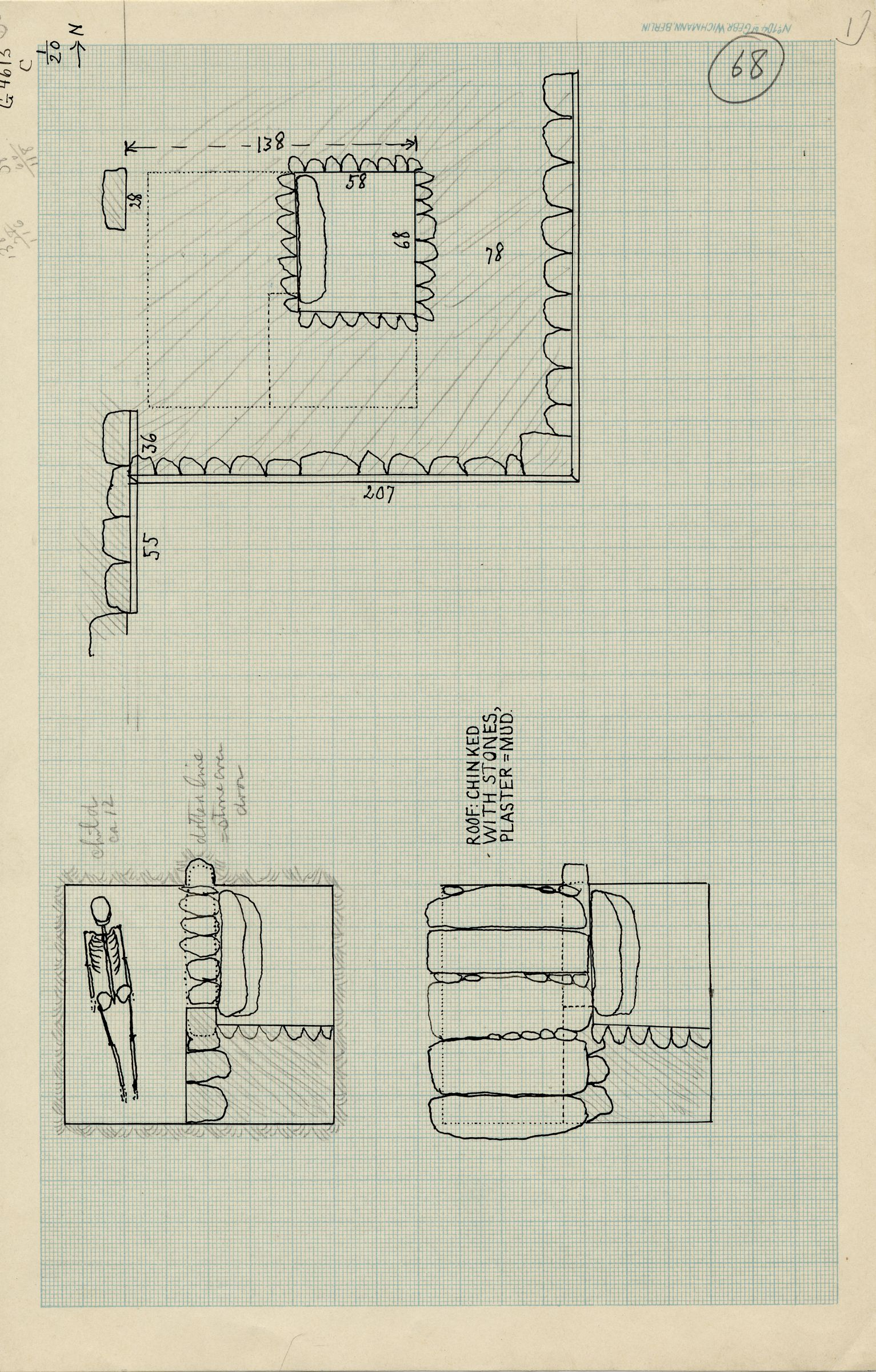 Maps and plans: G 4613, Shaft C1