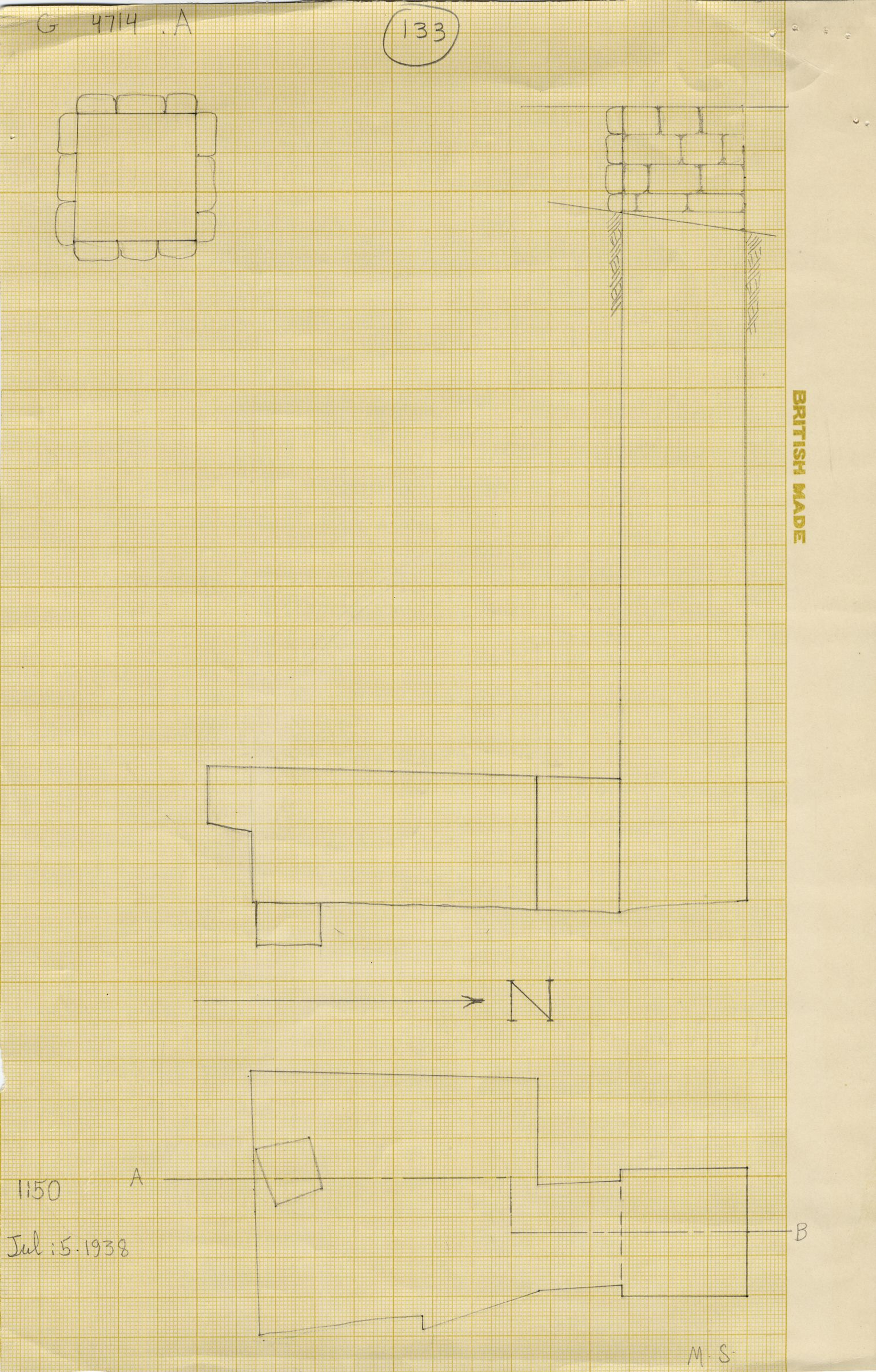 Maps and plans: G 4714, Shaft A