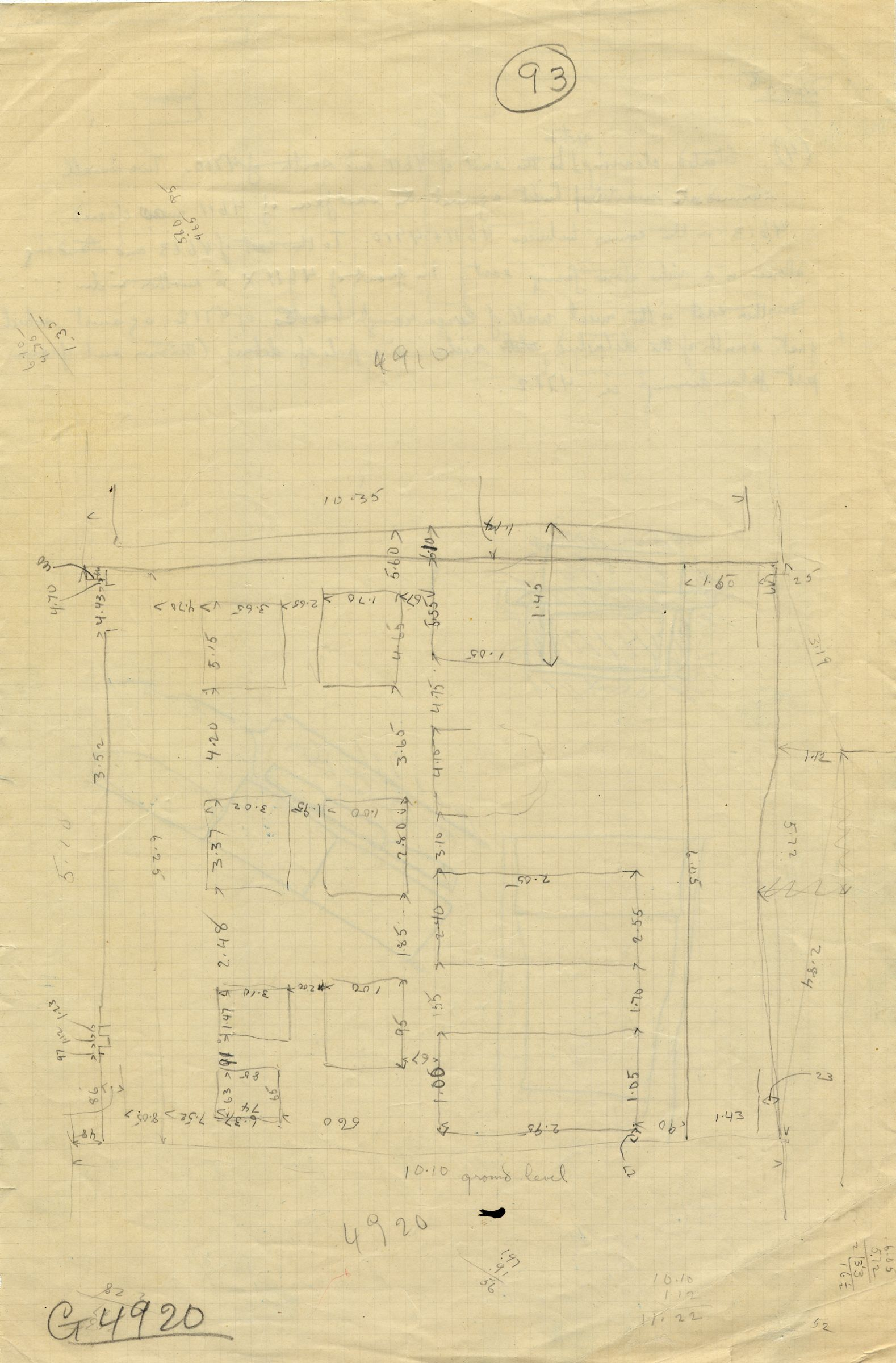 Maps and plans: Sketch plan of G 4911